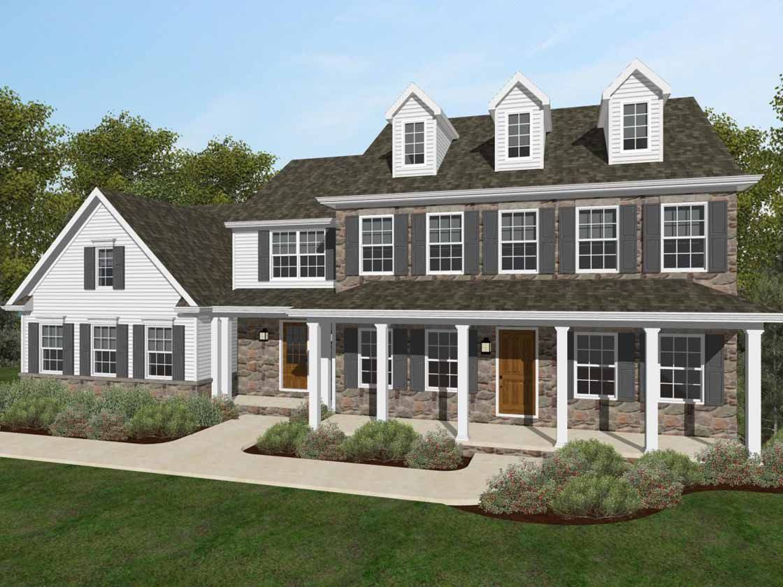 Exterior featured in the Lexington Traditional By Keystone Custom Homes in Lancaster, PA