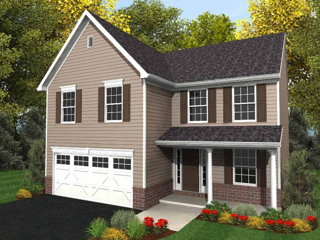 Exterior featured in the Monroe Traditional By Keystone Custom Homes in York, PA