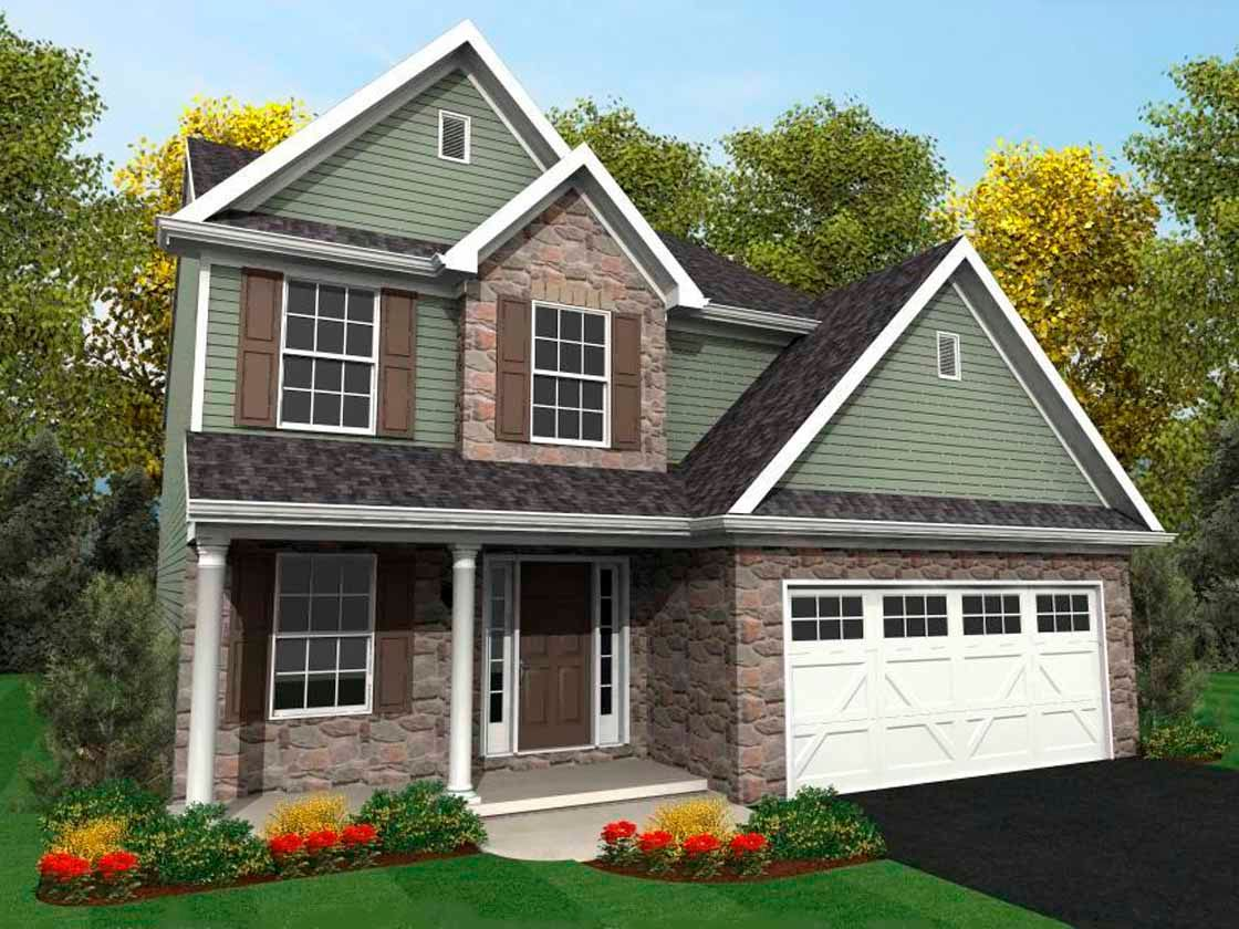 Exterior featured in the Walnut Heritage By Keystone Custom Homes in York, PA