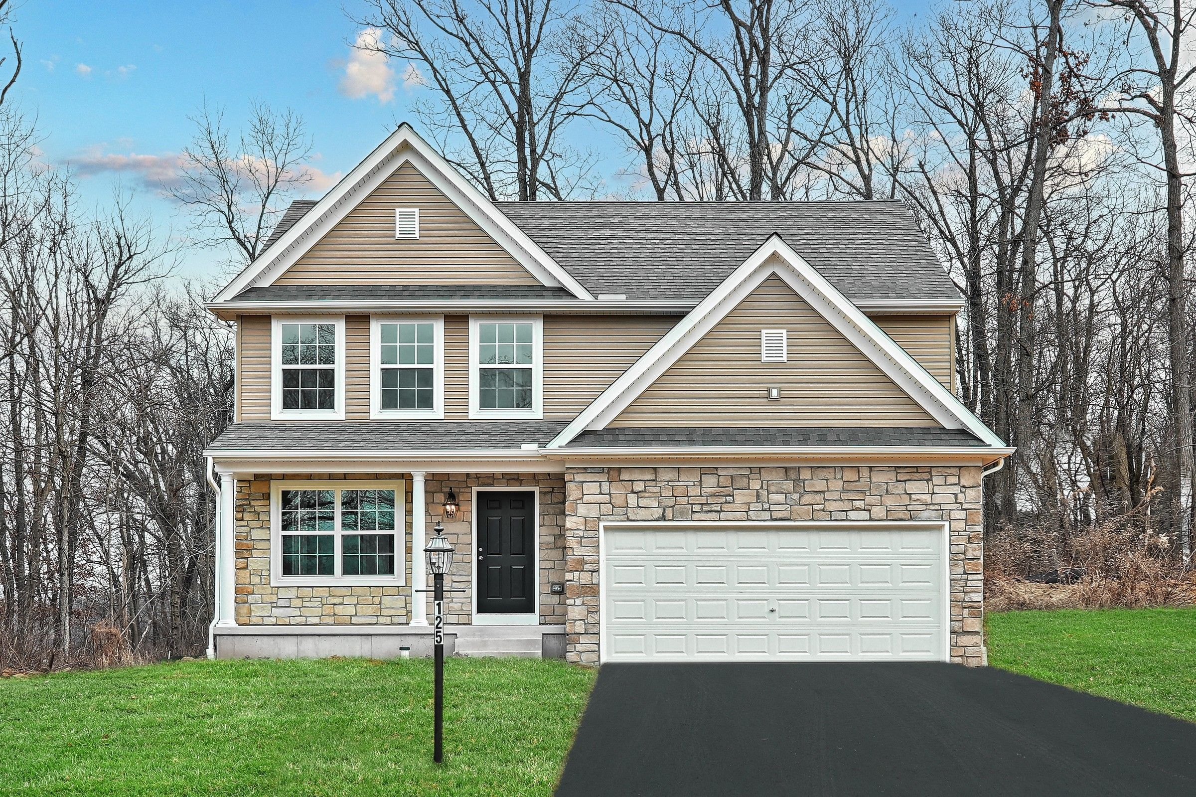 Exterior featured in the Alexander Traditional By Keystone Custom Homes in York, PA