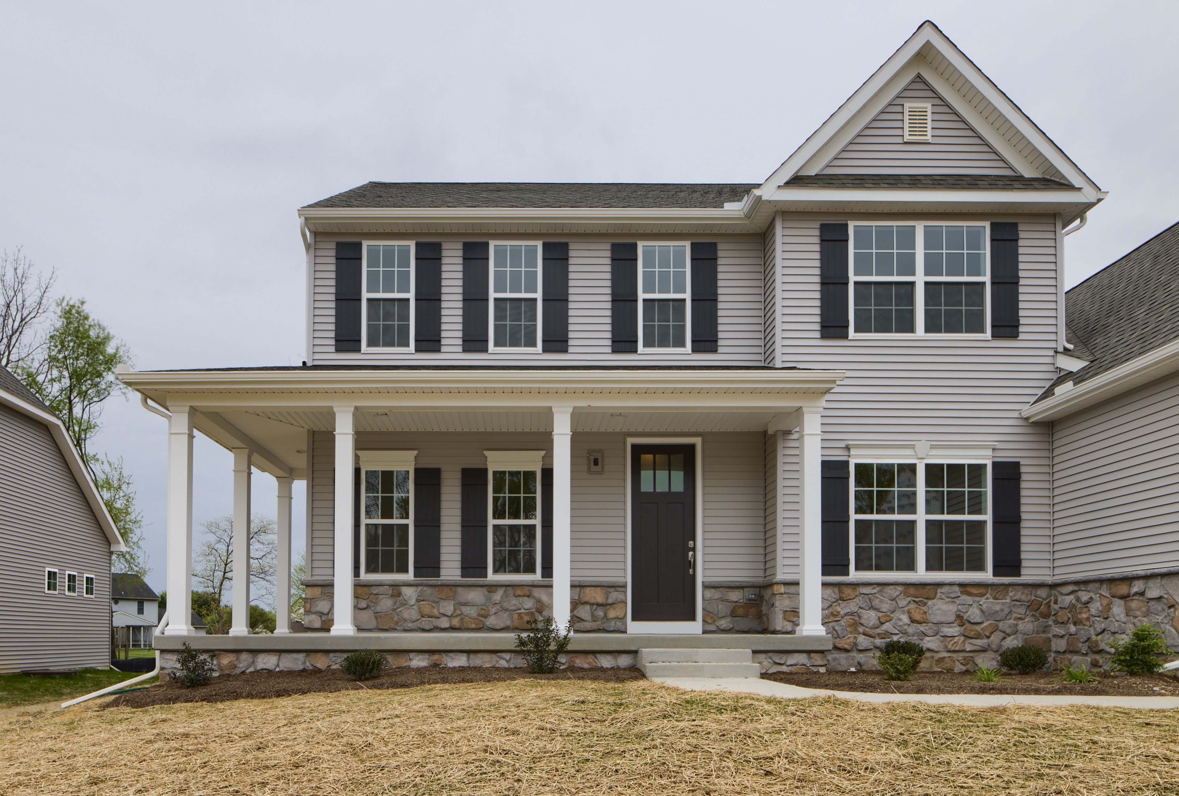 Exterior featured in the Augusta Farmhouse By Keystone Custom Homes in Baltimore, MD