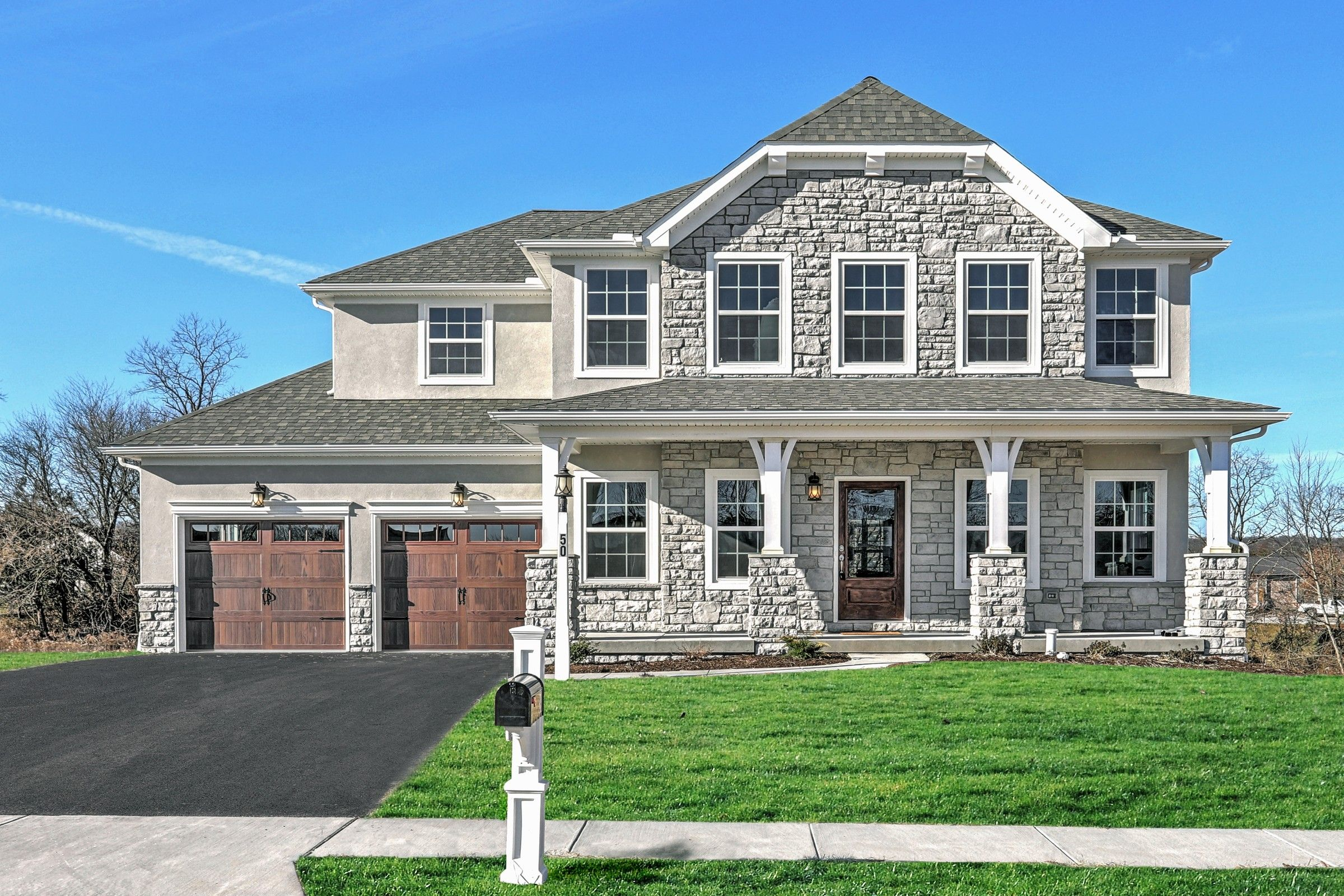 Exterior featured in the Windsor Farmhouse By Keystone Custom Homes in Wilmington-Newark, MD