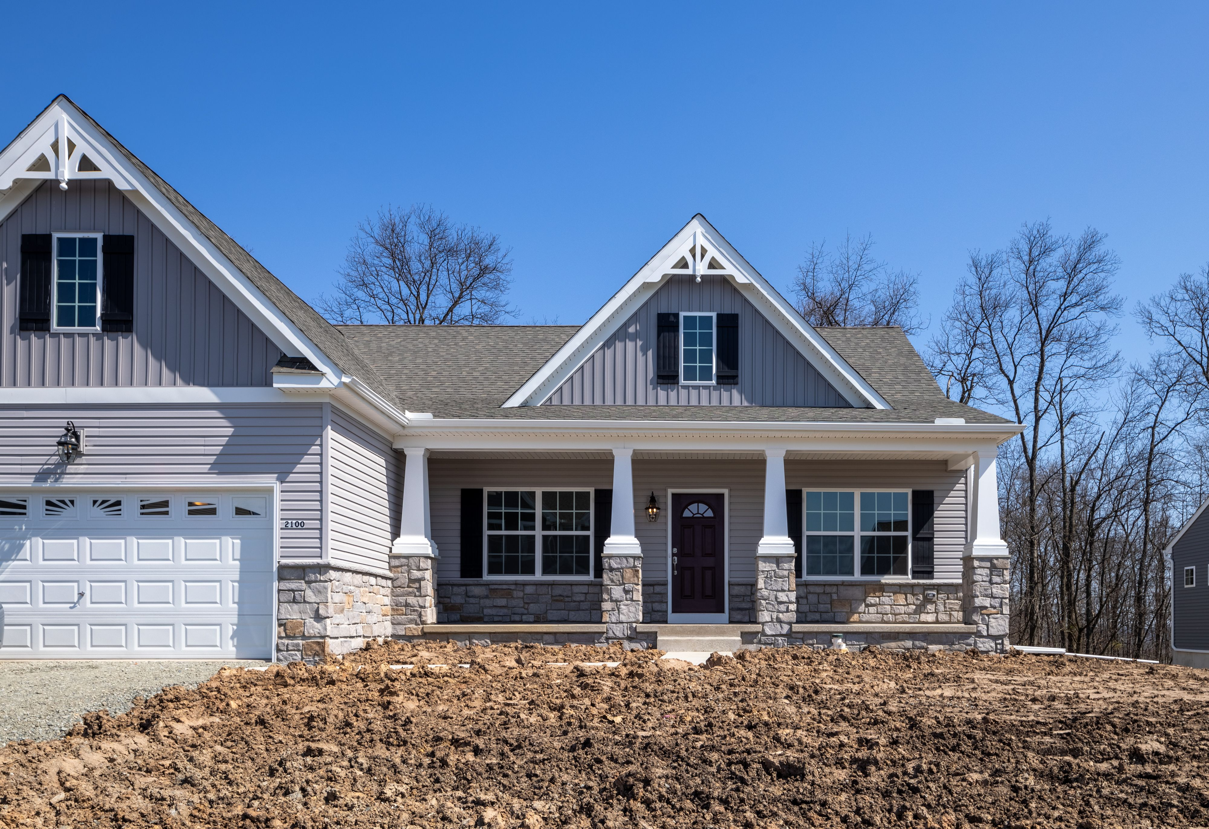 Exterior featured in the Arcadia Normandy By Keystone Custom Homes in Wilmington-Newark, MD