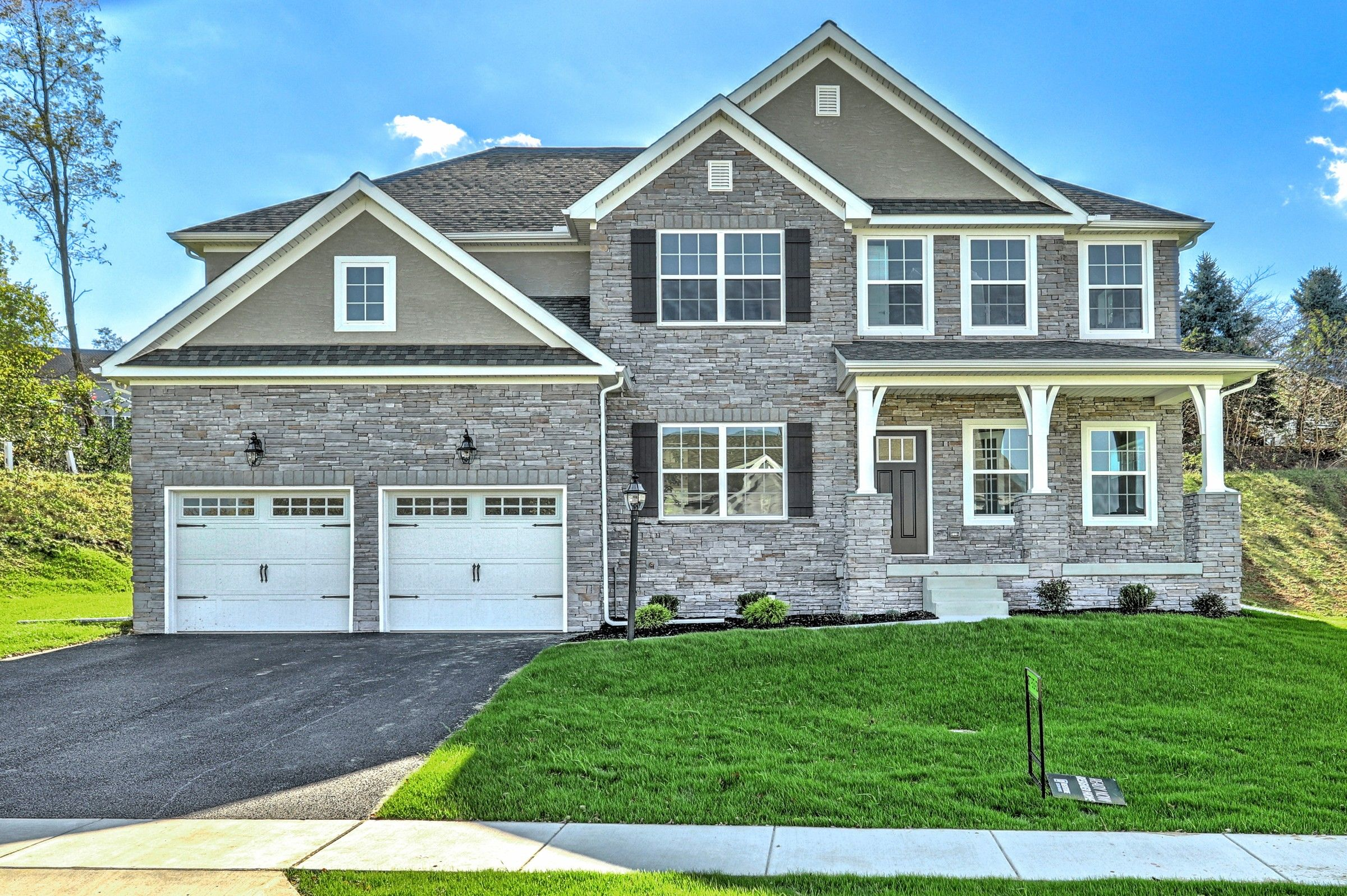 Exterior featured in the Parker Traditional By Keystone Custom Homes in Baltimore, MD