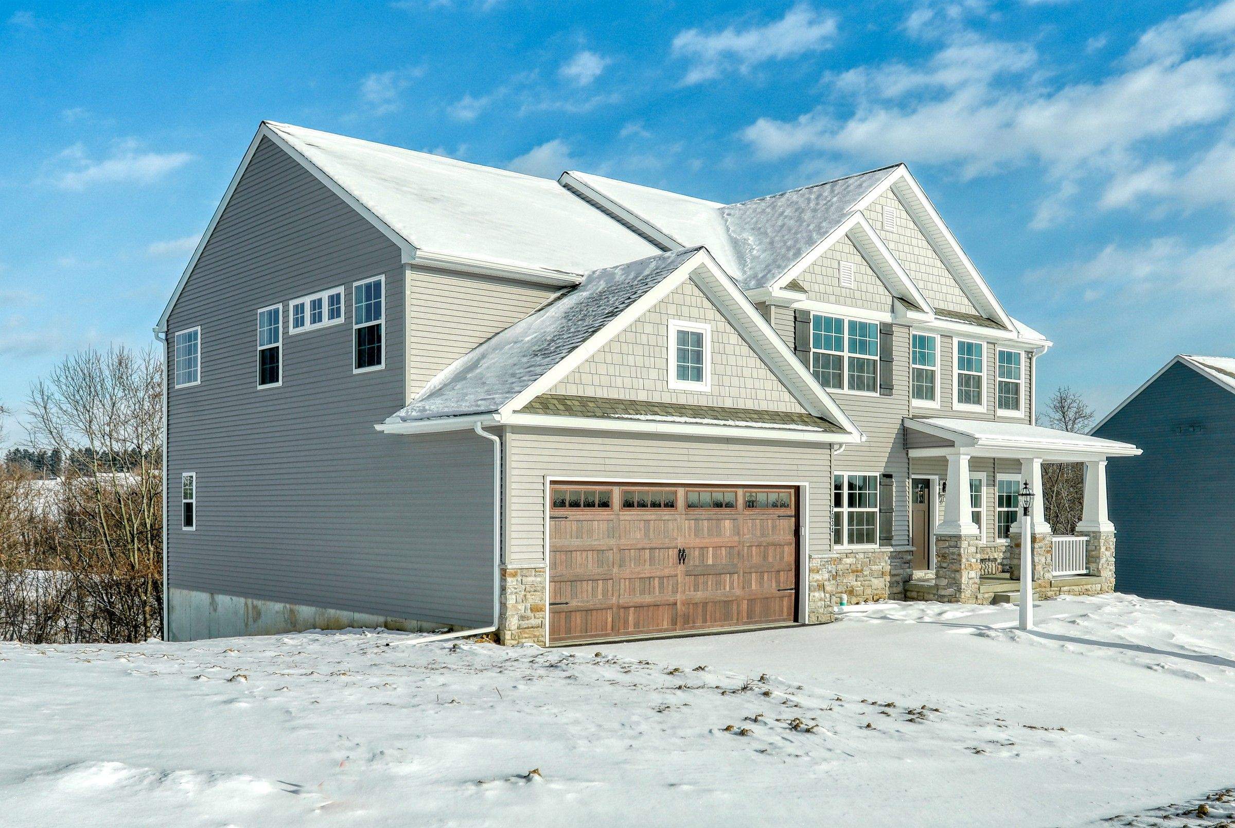 Exterior featured in the Parker Farmhouse By Keystone Custom Homes in Wilmington-Newark, MD