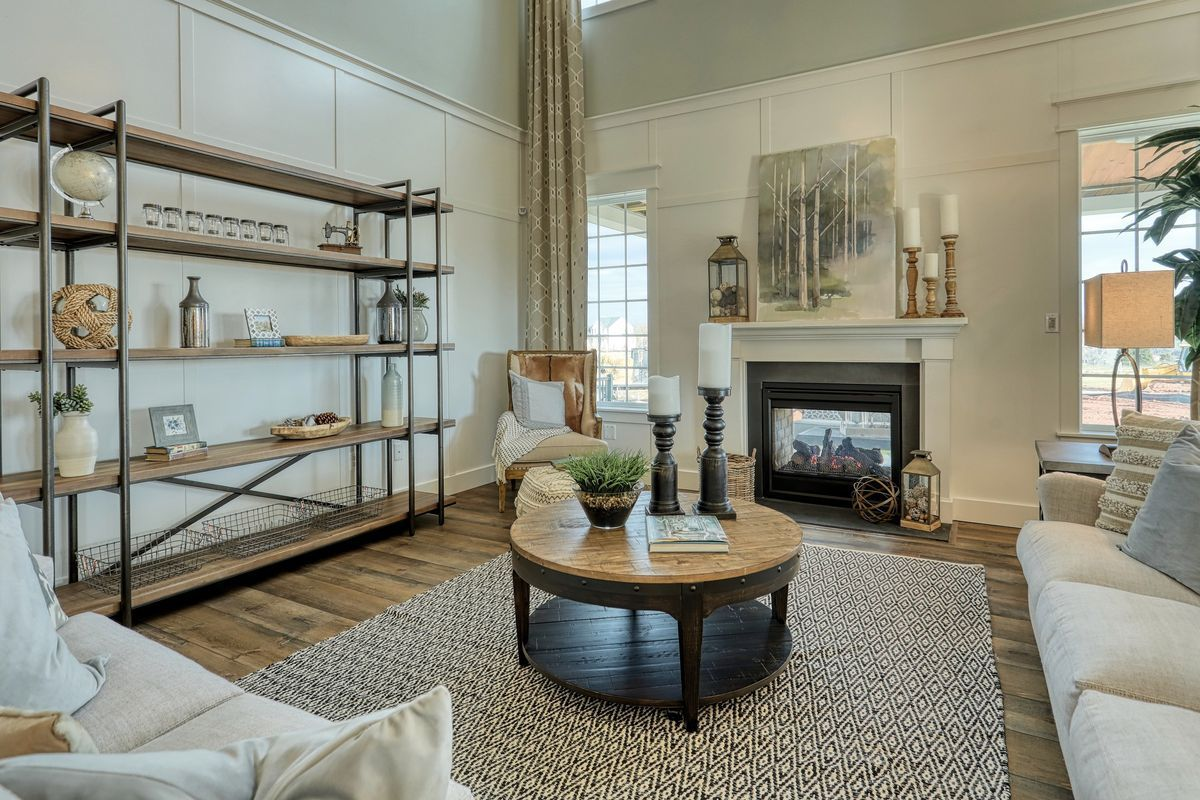 Living Area featured in the Nottingham Farmhouse By Keystone Custom Homes in Washington, MD