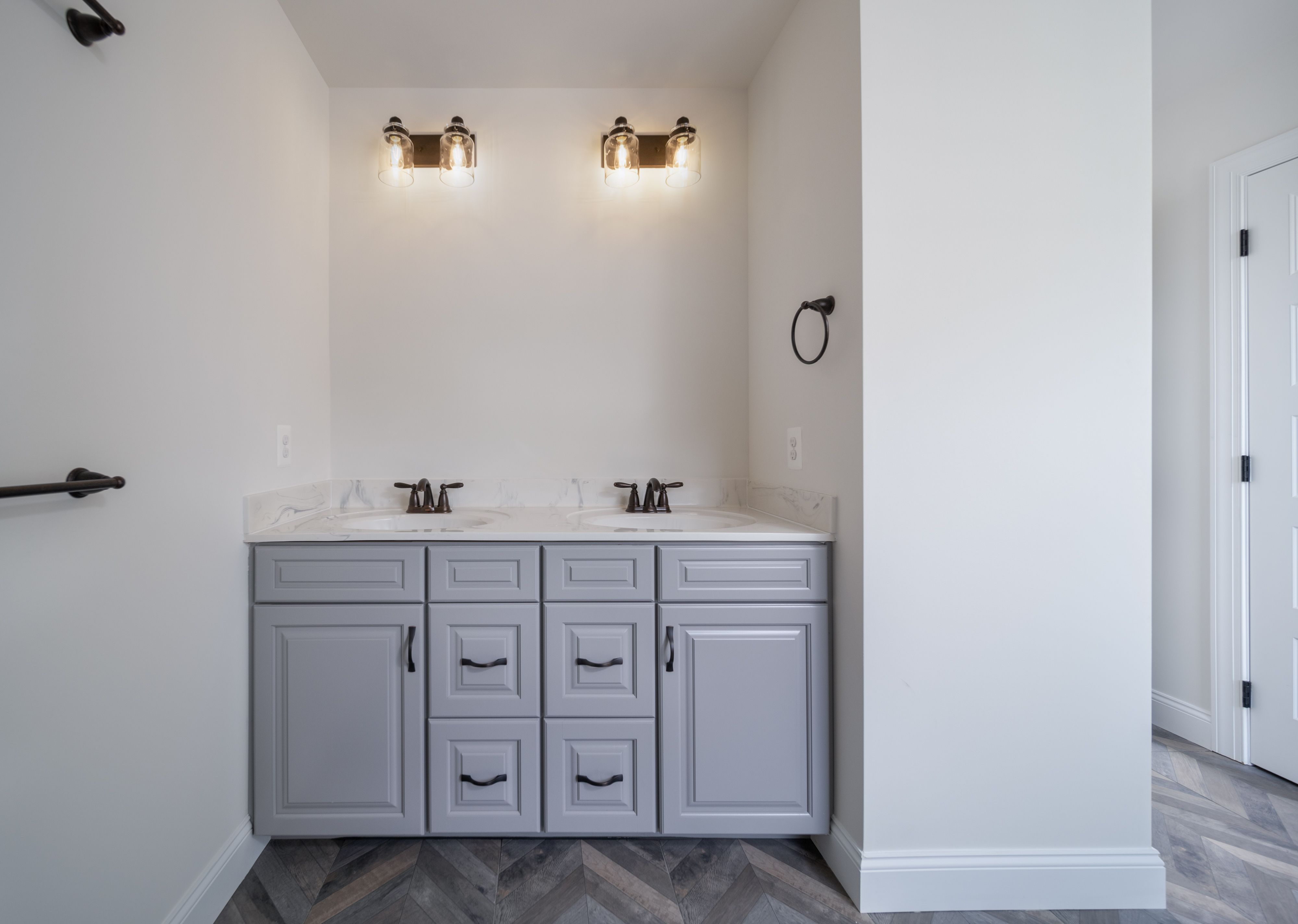 Bathroom featured in the Covington Traditional By Keystone Custom Homes in Philadelphia, PA