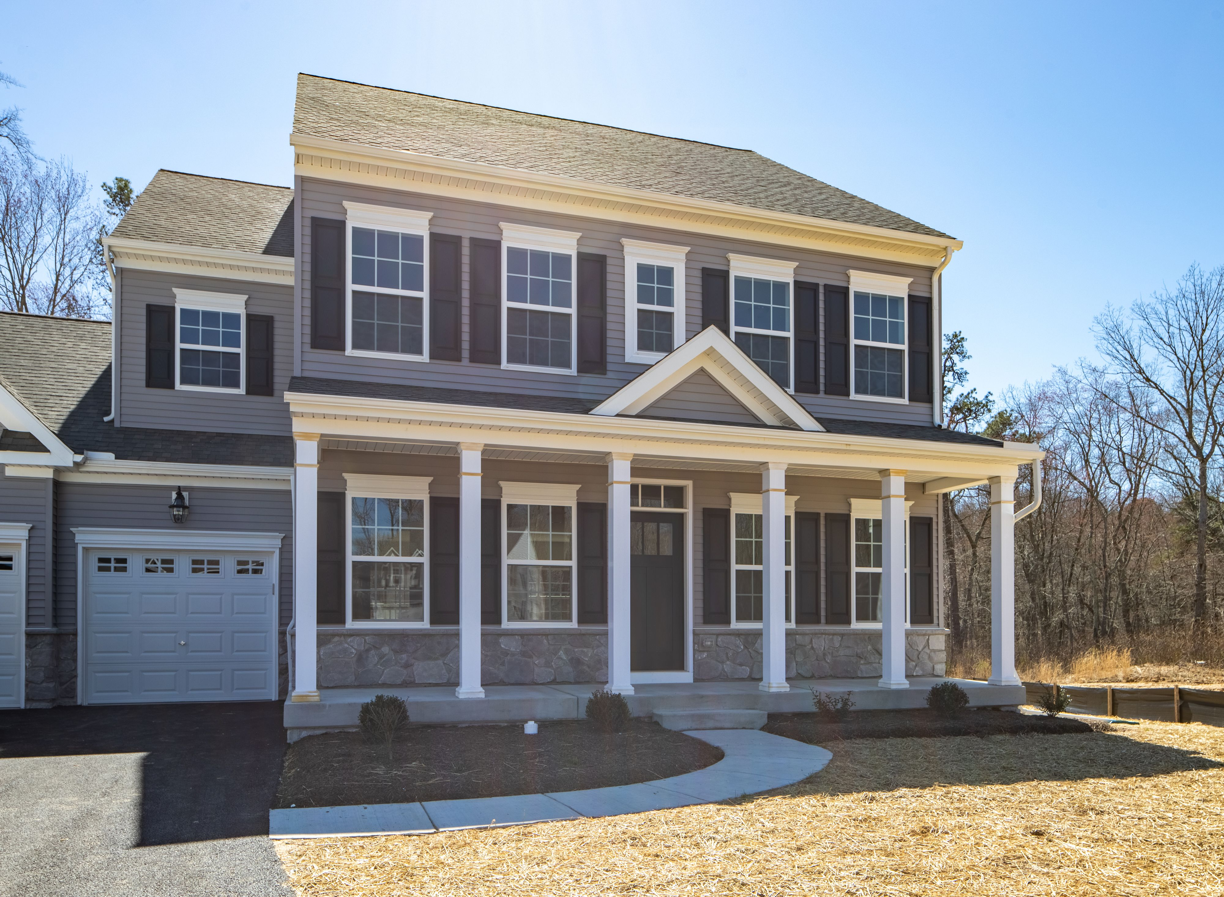 Exterior featured in the Addison Heritage By Keystone Custom Homes in Baltimore, MD