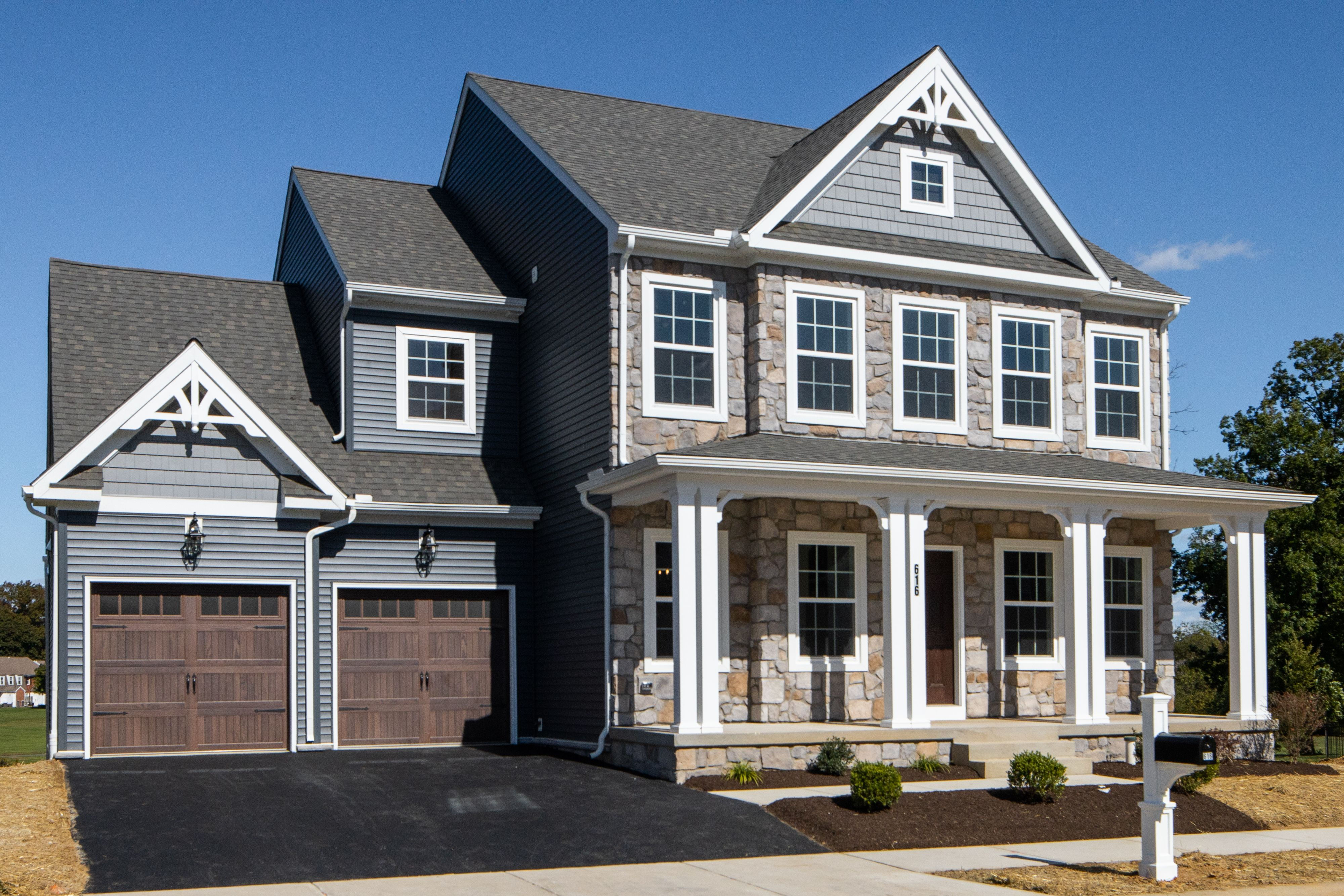 Exterior featured in the Addison Vintage By Keystone Custom Homes in Baltimore, MD