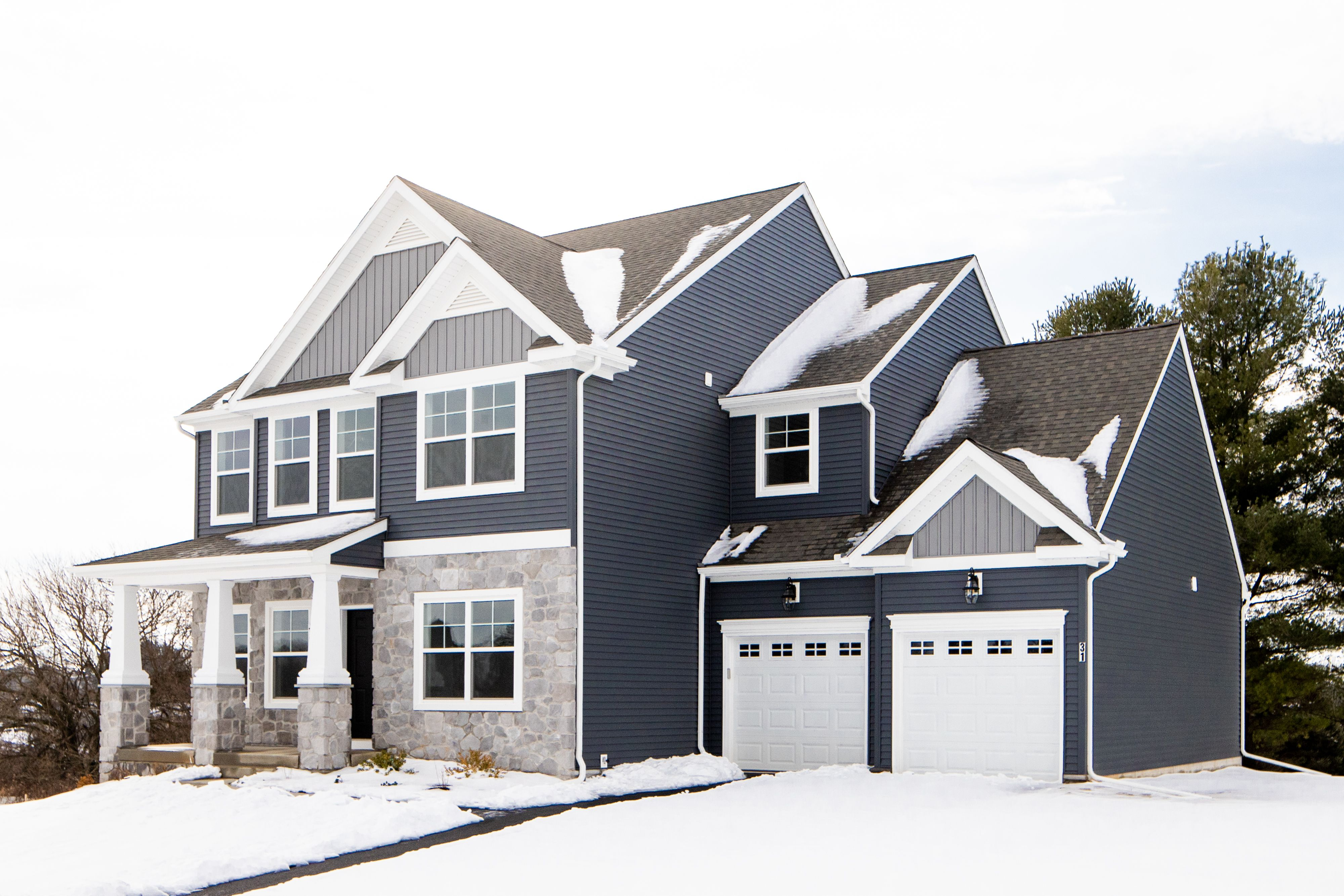 Exterior featured in the Addison Heritage By Keystone Custom Homes in Harrisburg, PA