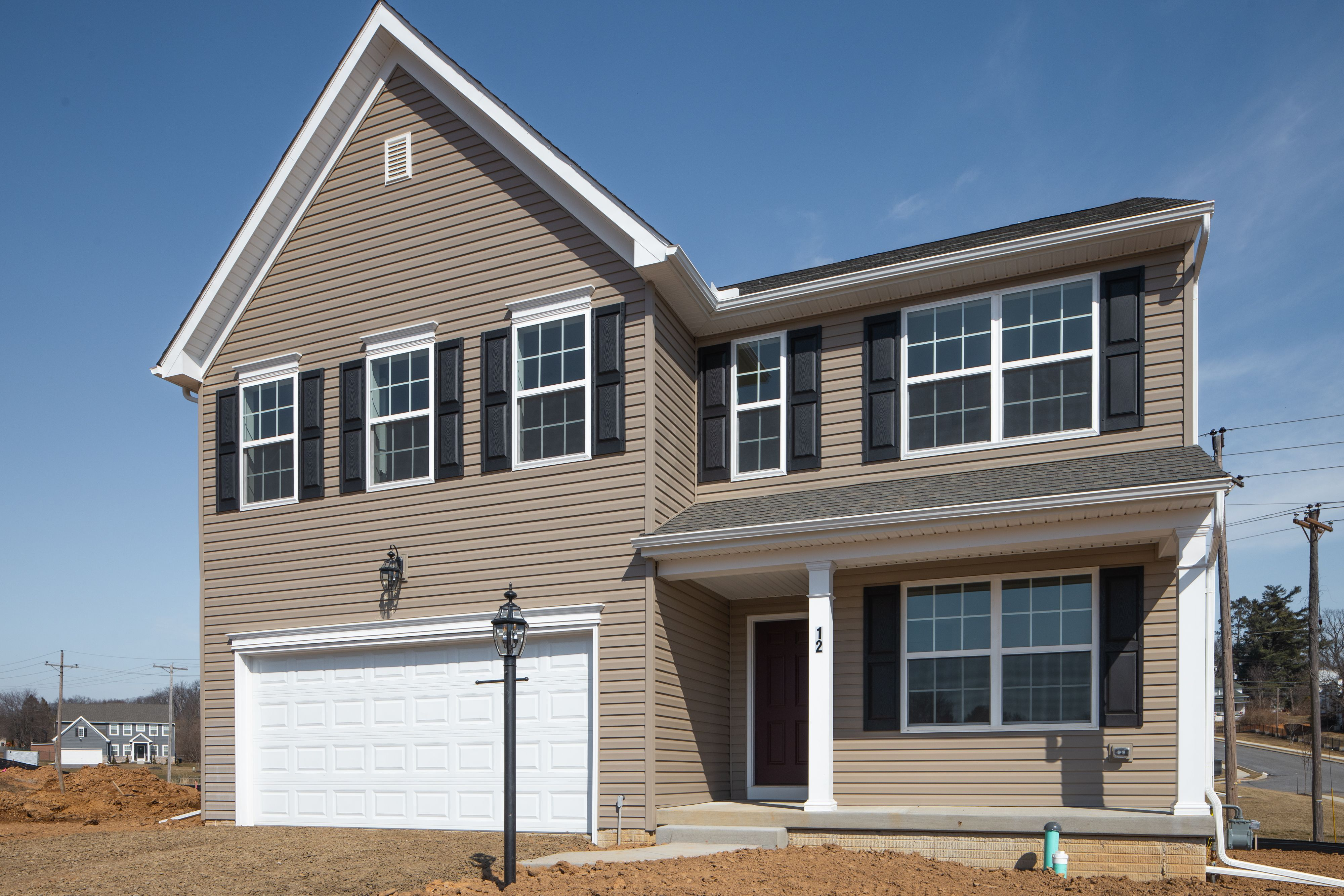 Exterior featured in the Lachlan Traditional By Keystone Custom Homes in Philadelphia, PA