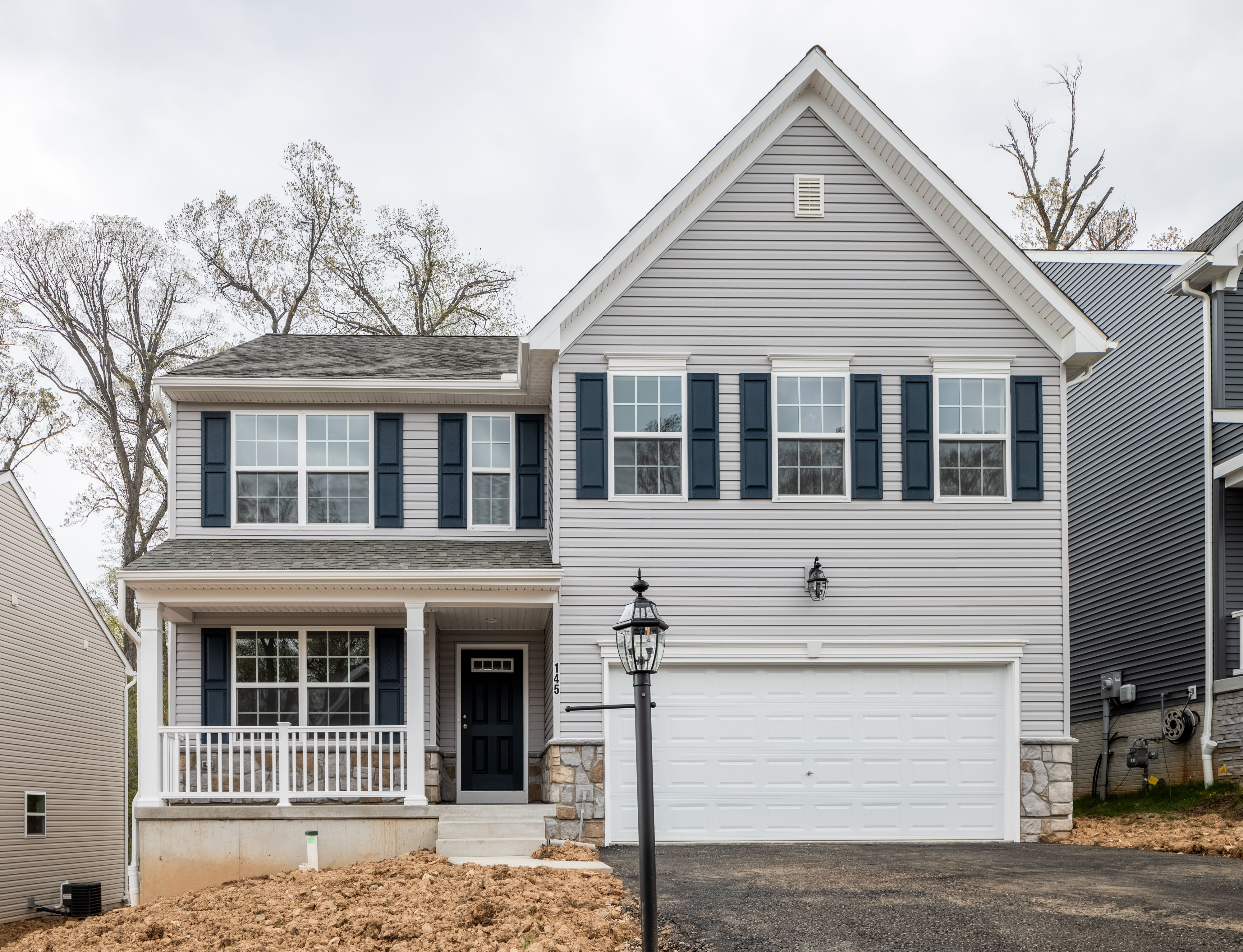 Exterior featured in the Lachlan Traditional By Keystone Custom Homes in Baltimore, MD