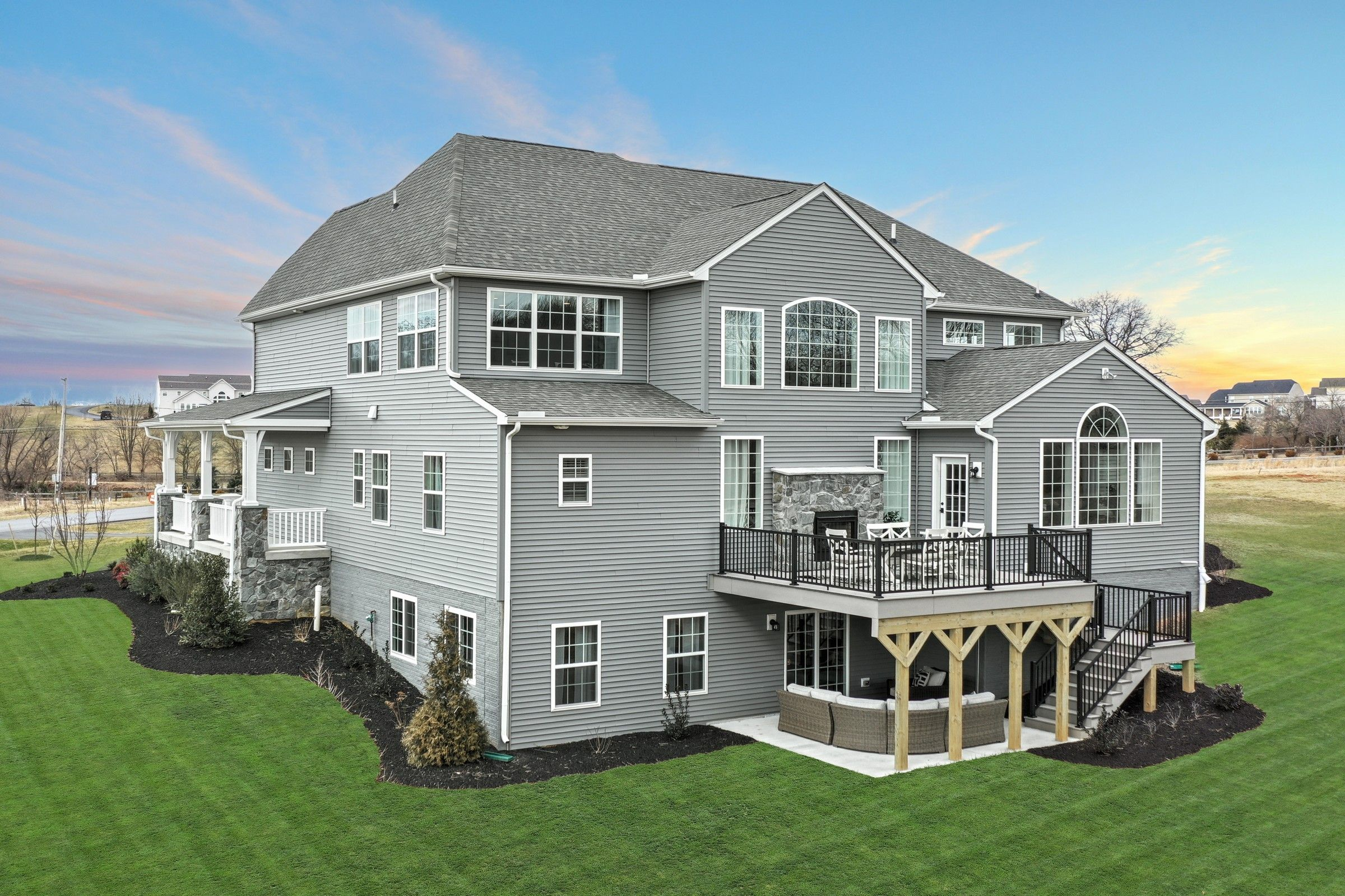 Exterior featured in the Hawthorne Traditional By Keystone Custom Homes in Baltimore, MD