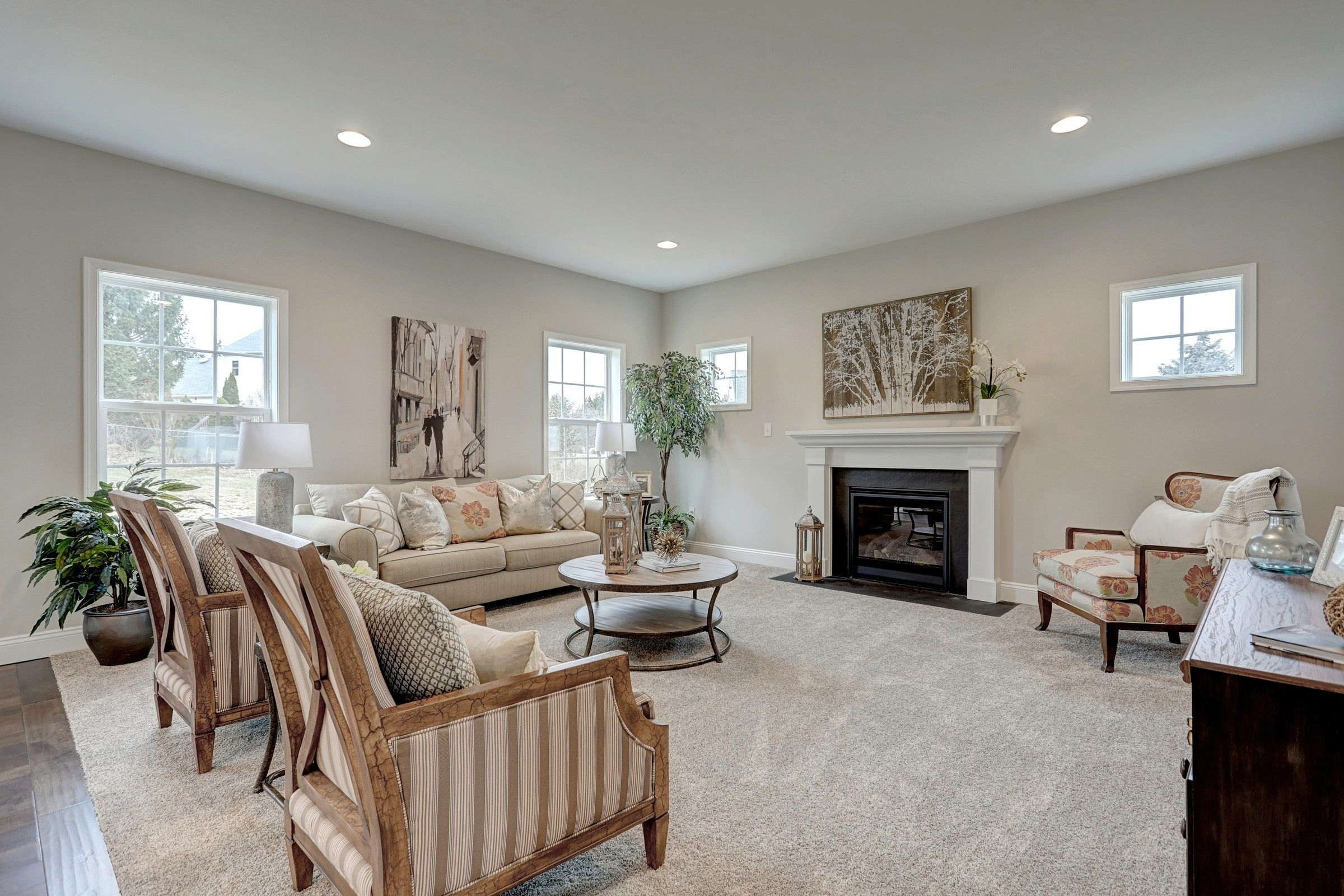 Living Area featured in the Oxford Farmhouse By Keystone Custom Homes in Harrisburg, PA