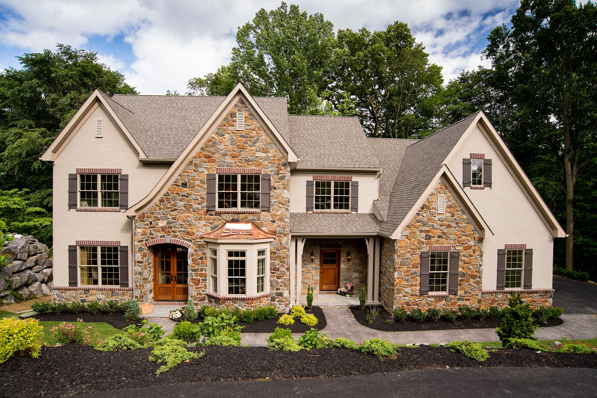 Exterior featured in the Lexington Vintage By Keystone Custom Homes in Baltimore, MD