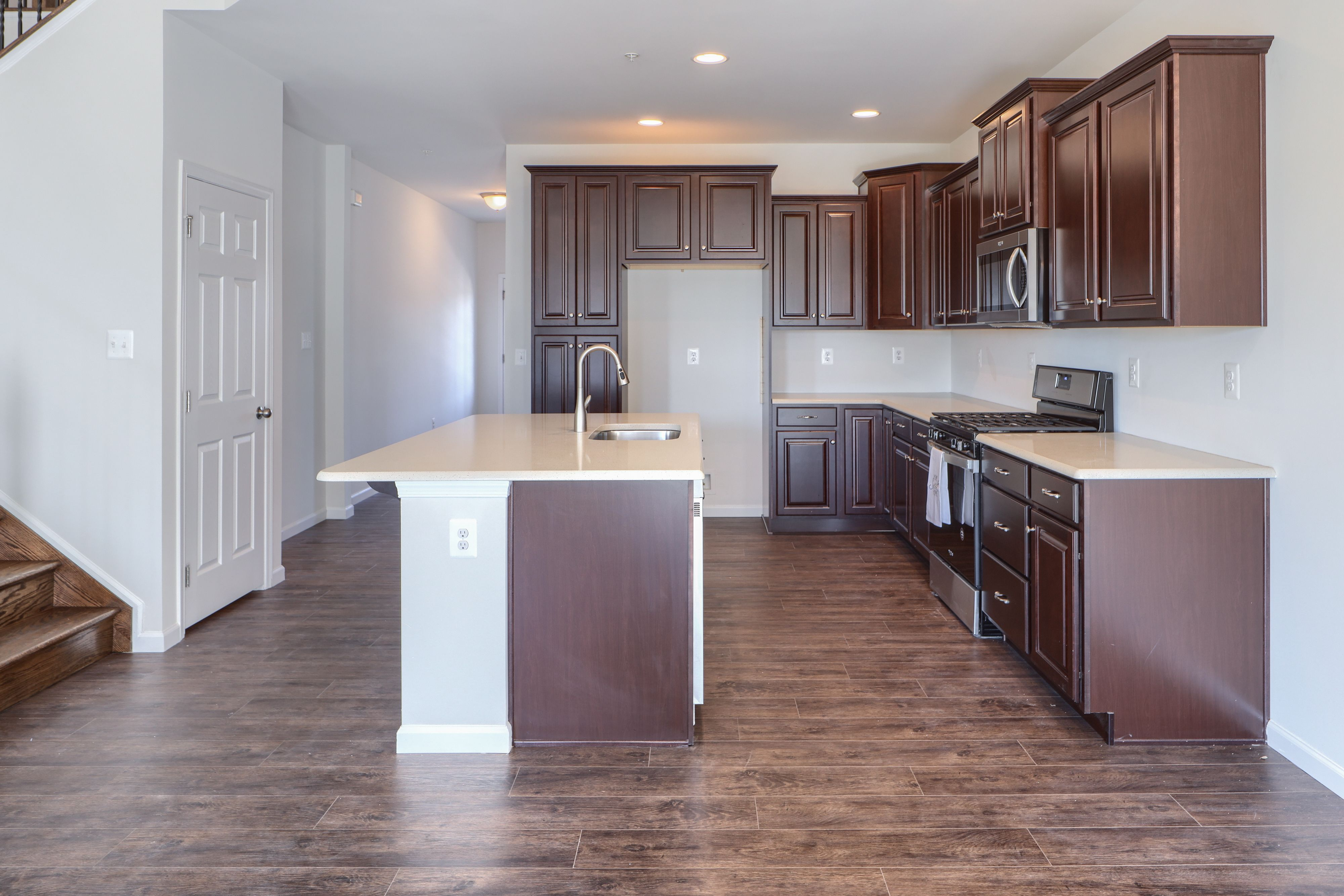 Kitchen featured in the Caspian Traditional - End Unit - Alt. Elev. By Keystone Custom Homes