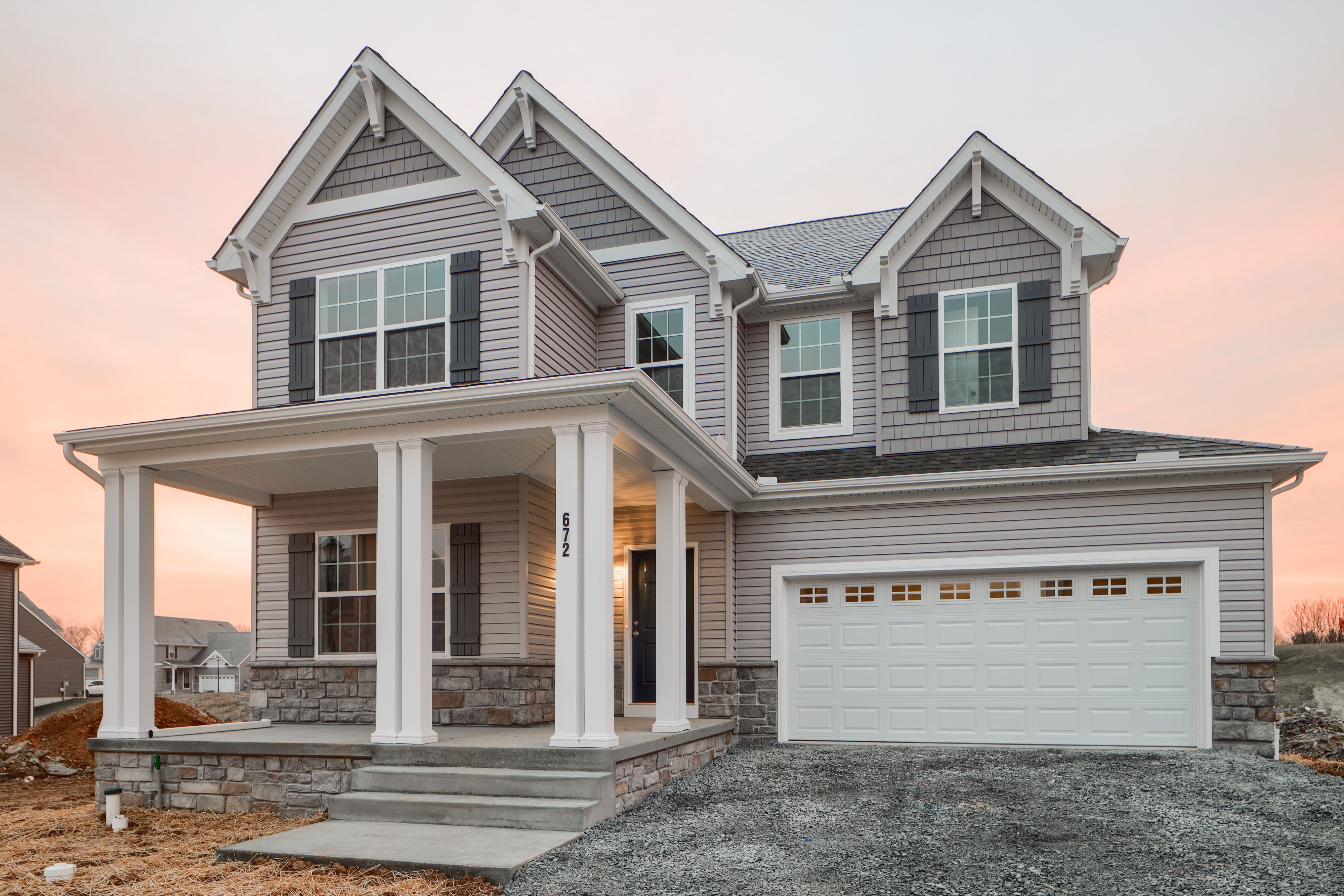 Exterior featured in the Winston Traditional By Keystone Custom Homes in Lancaster, PA