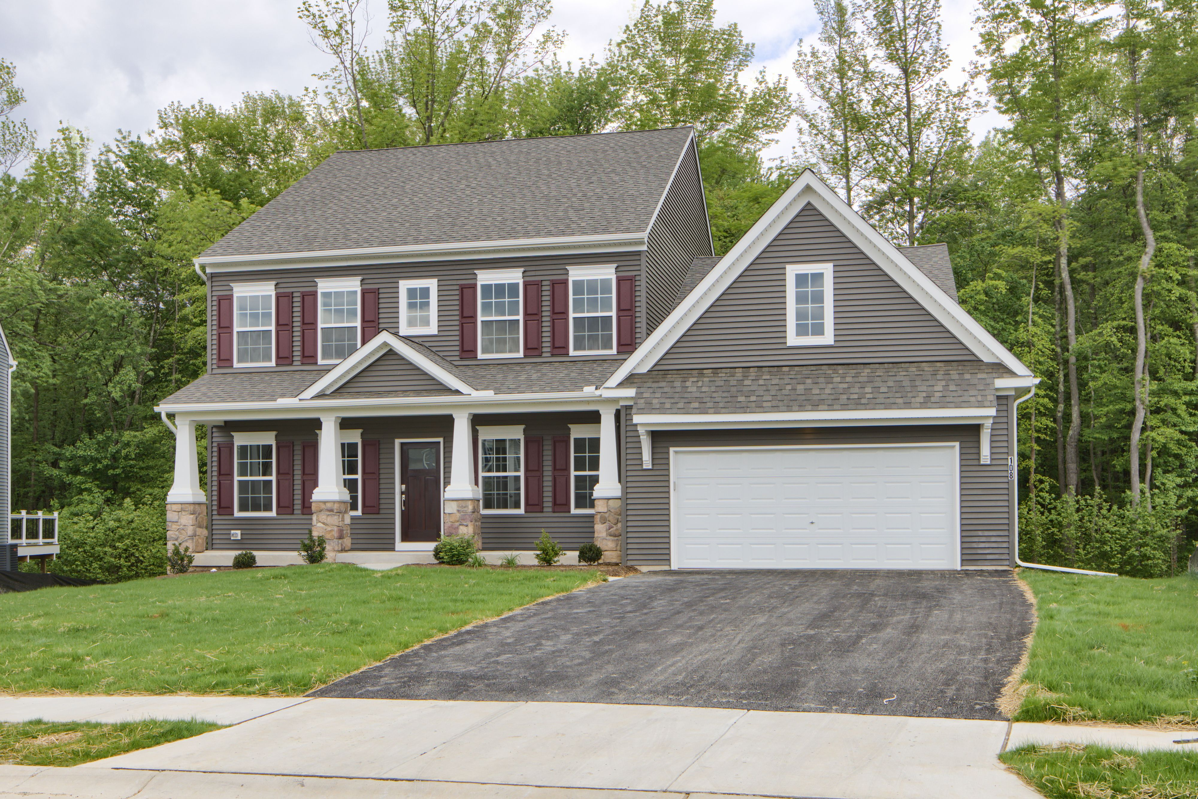 Exterior featured in the Nottingham Vintage By Keystone Custom Homes in Baltimore, MD