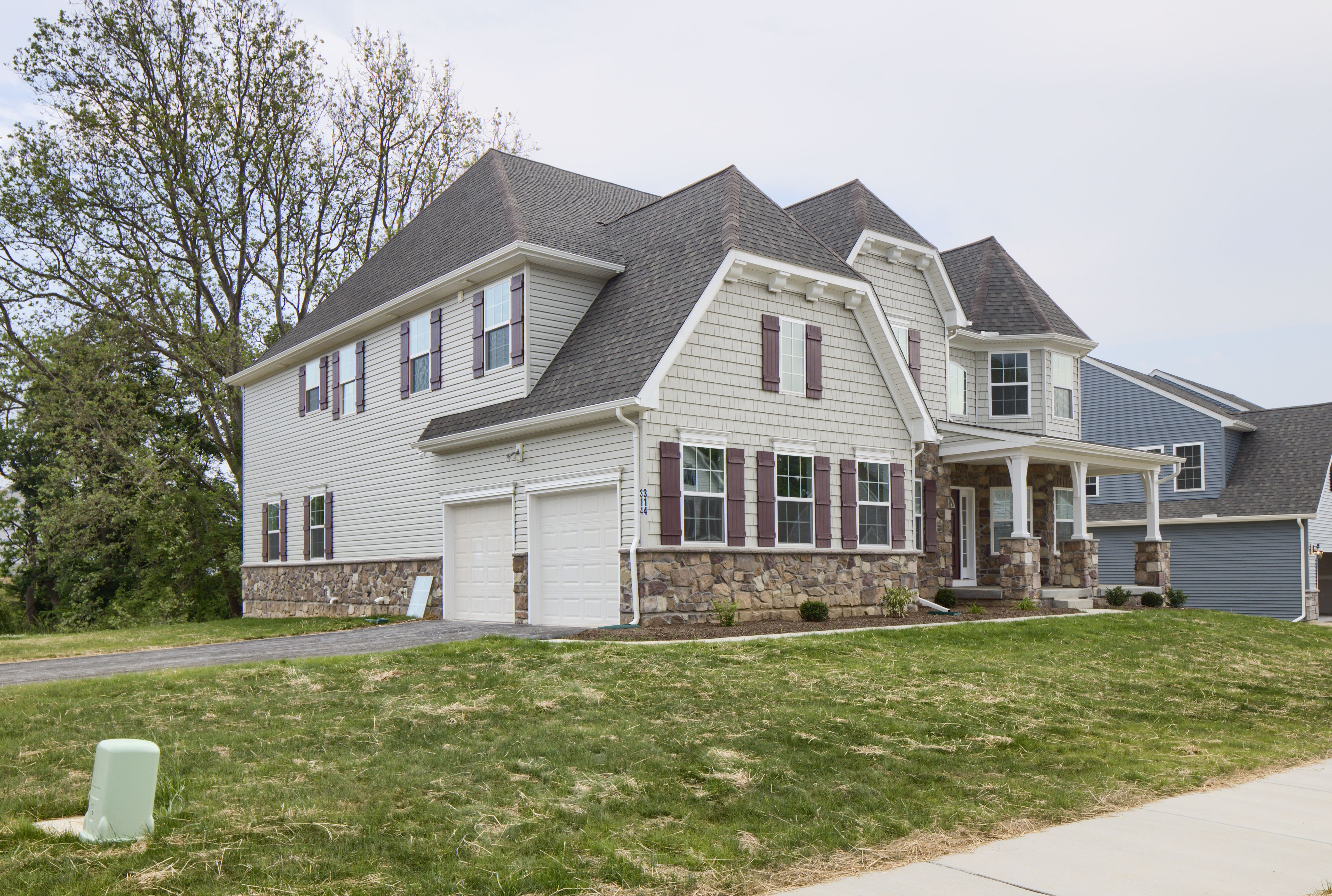 Exterior featured in the Devonshire Vintage By Keystone Custom Homes in Baltimore, MD
