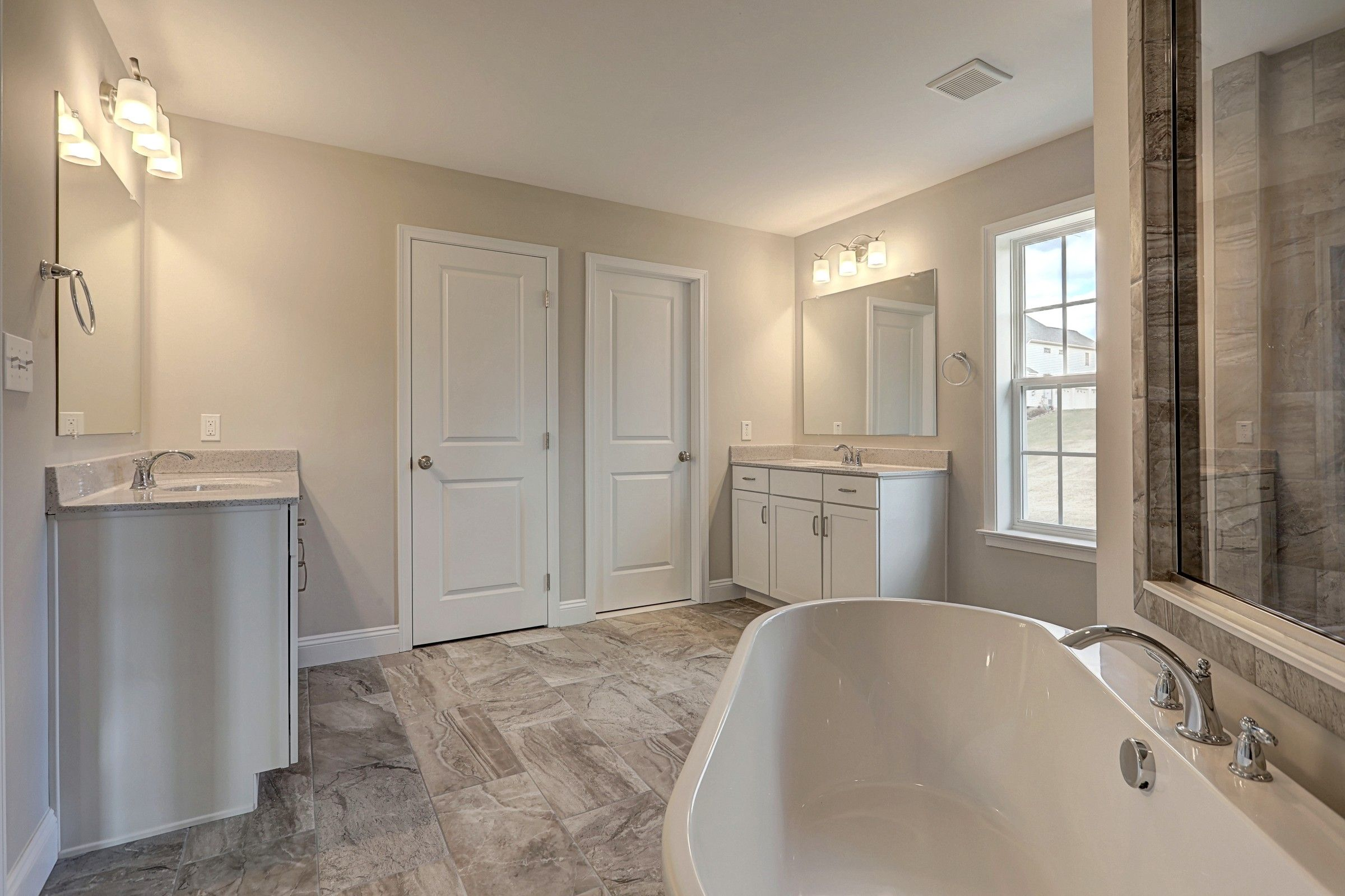 Bathroom featured in the Parker Farmhouse By Keystone Custom Homes in York, PA