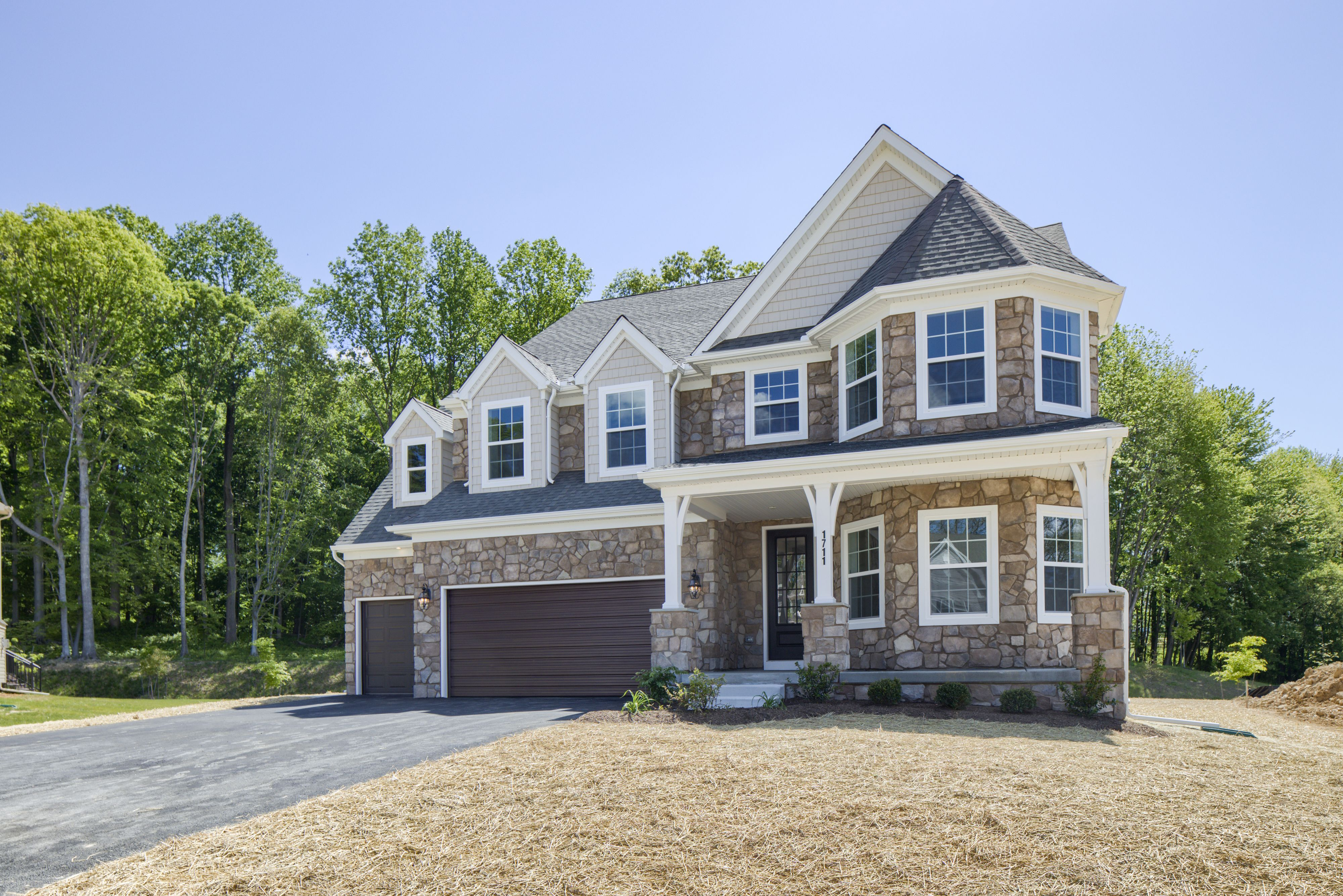 Exterior featured in the Covington Traditional By Keystone Custom Homes in Baltimore, MD