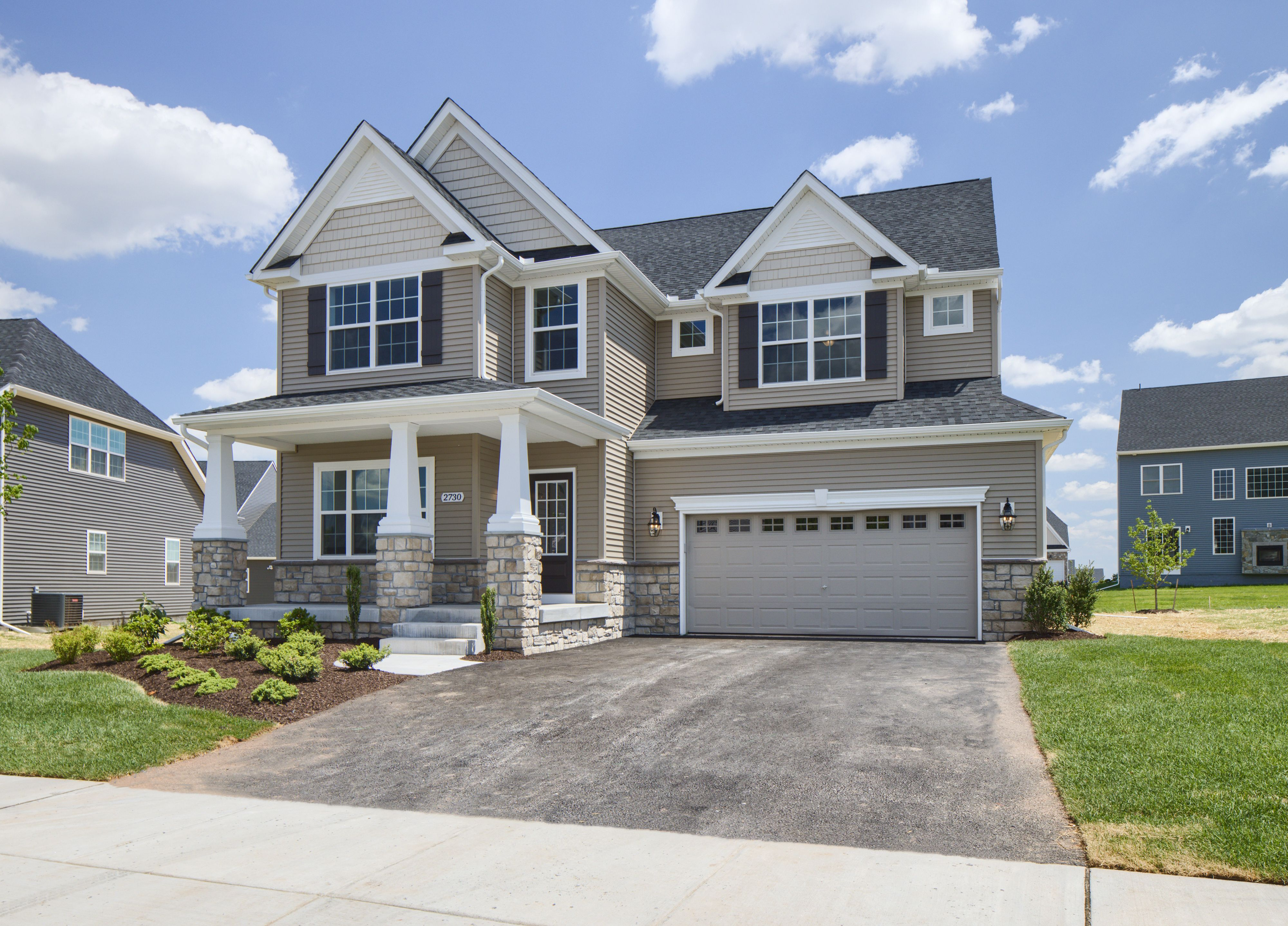 Exterior featured in the Manchester Manor By Keystone Custom Homes in Lancaster, PA
