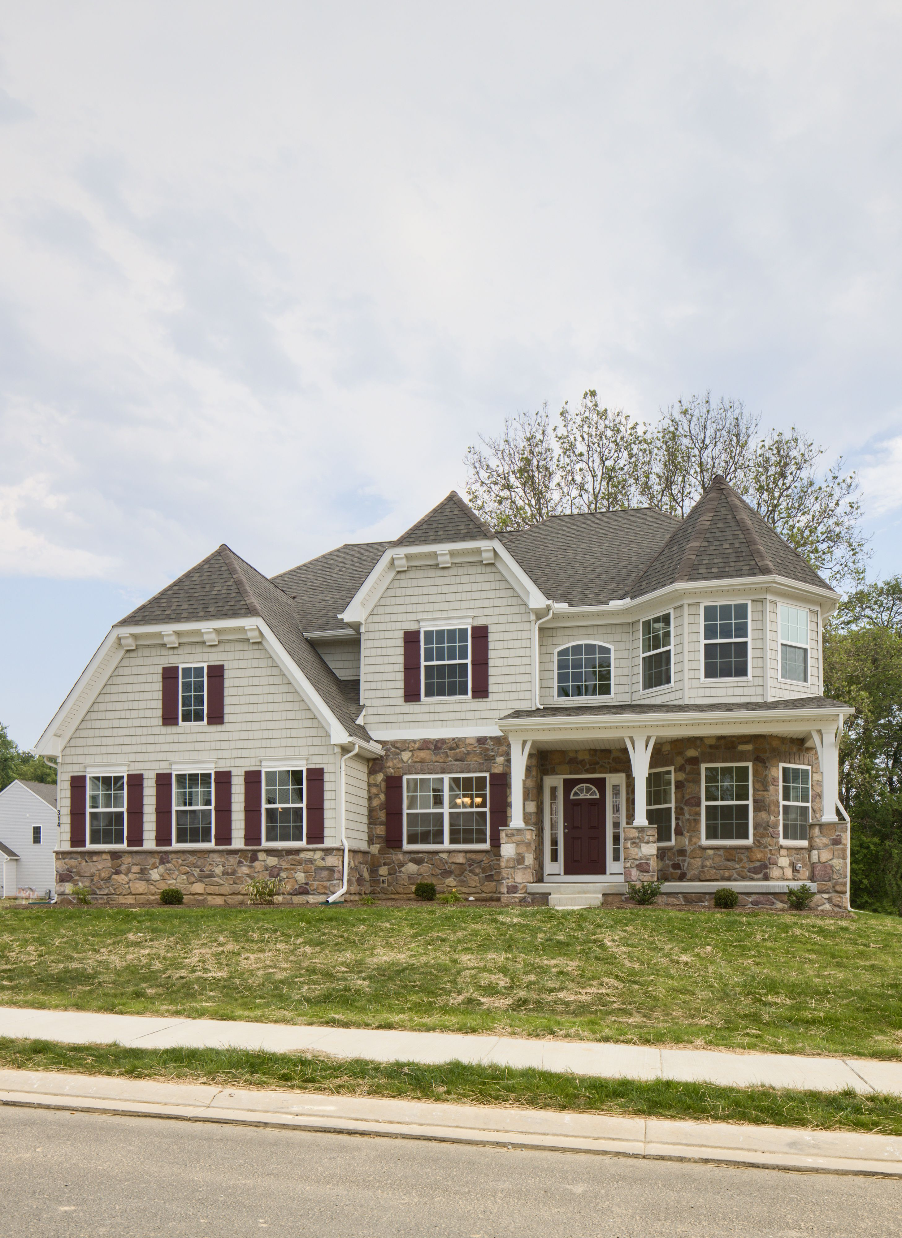 Exterior featured in the Devonshire Manor By Keystone Custom Homes in Harrisburg, PA