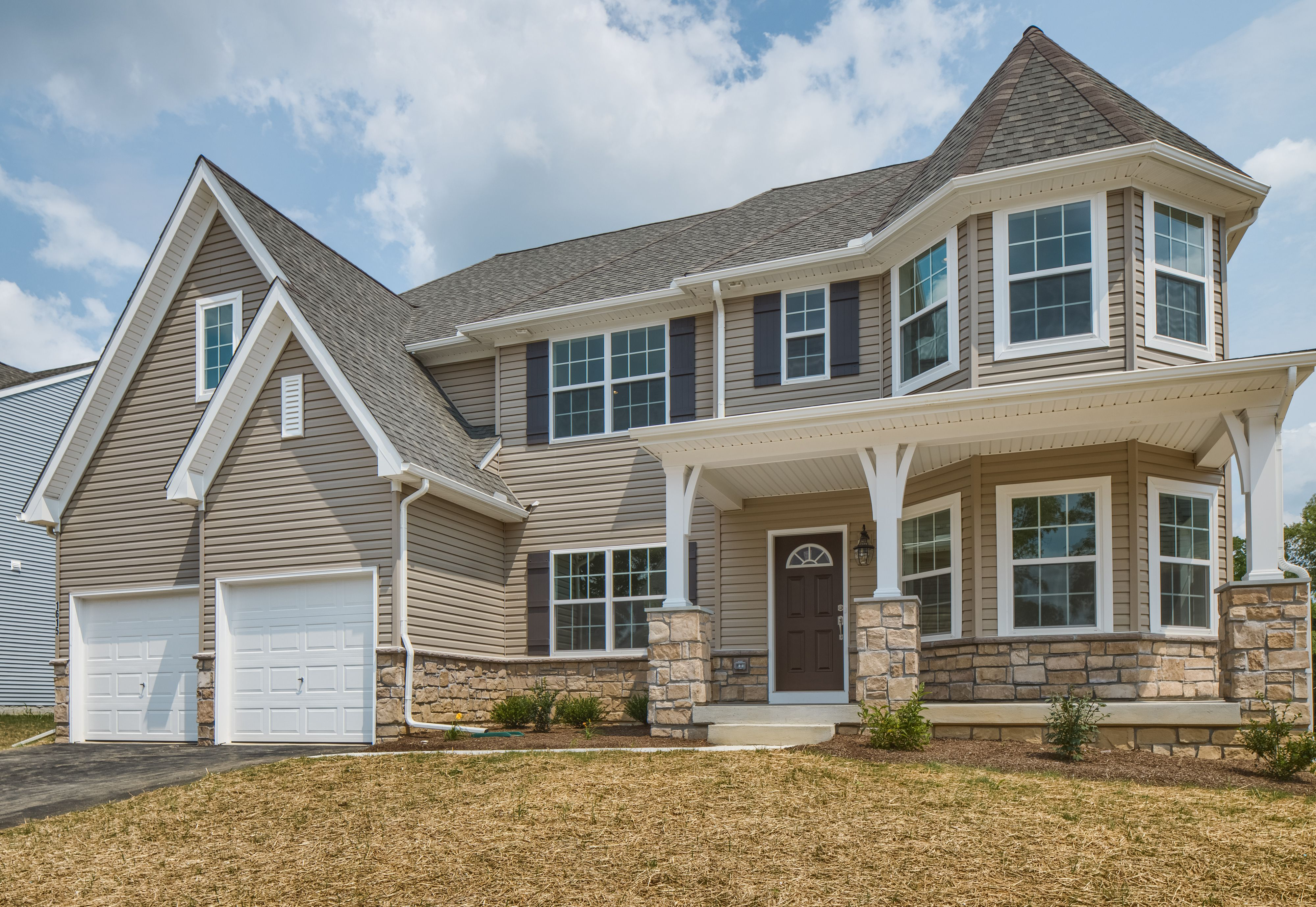 Exterior featured in the Hawthorne Traditional By Keystone Custom Homes in Harrisburg, PA
