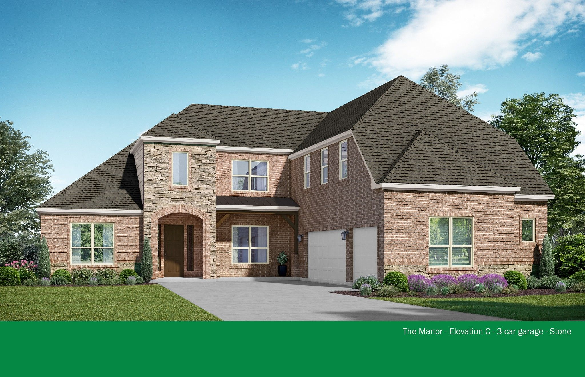 Exterior featured in the Manor By Kindred Homes in San Antonio, TX