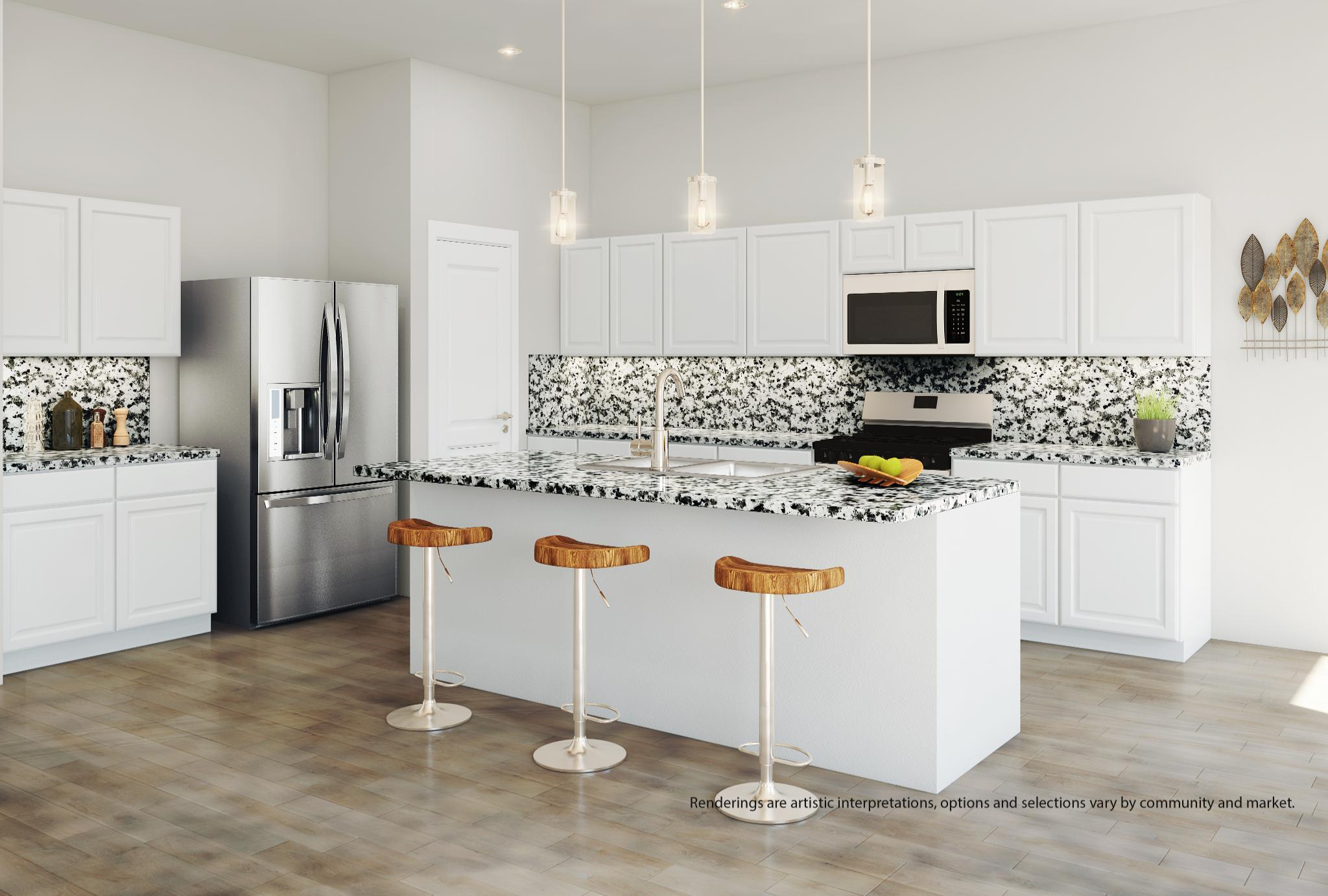 Kitchen featured in the Willow By Kindred Homes in San Antonio, TX