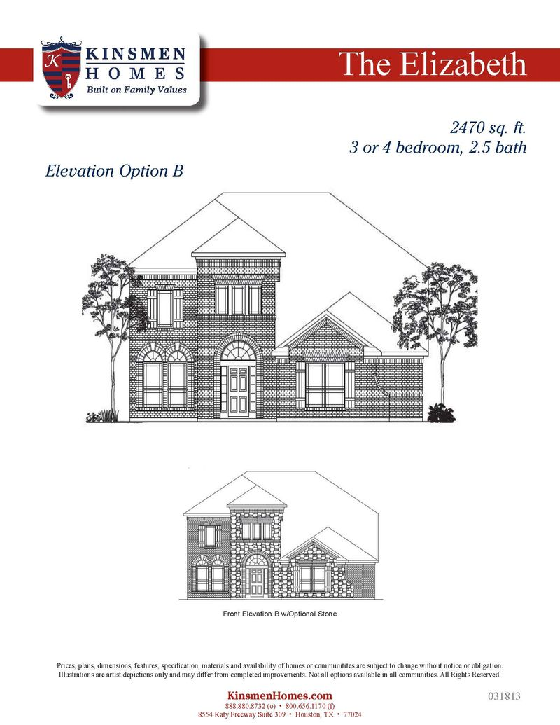 The Elizabeth Home Plan By Kinsmen Homes In Beaumont Area