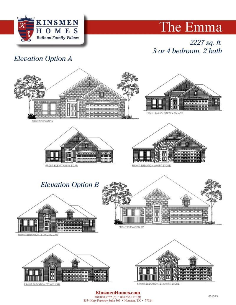 The Emma Home Plan By Kinsmen Homes In Bryan College
