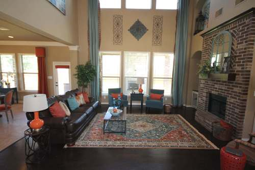 Greatroom-and-Dining-in-The Katherine-at-Bryan, College Station Area Build On Your Lot-in-College Station