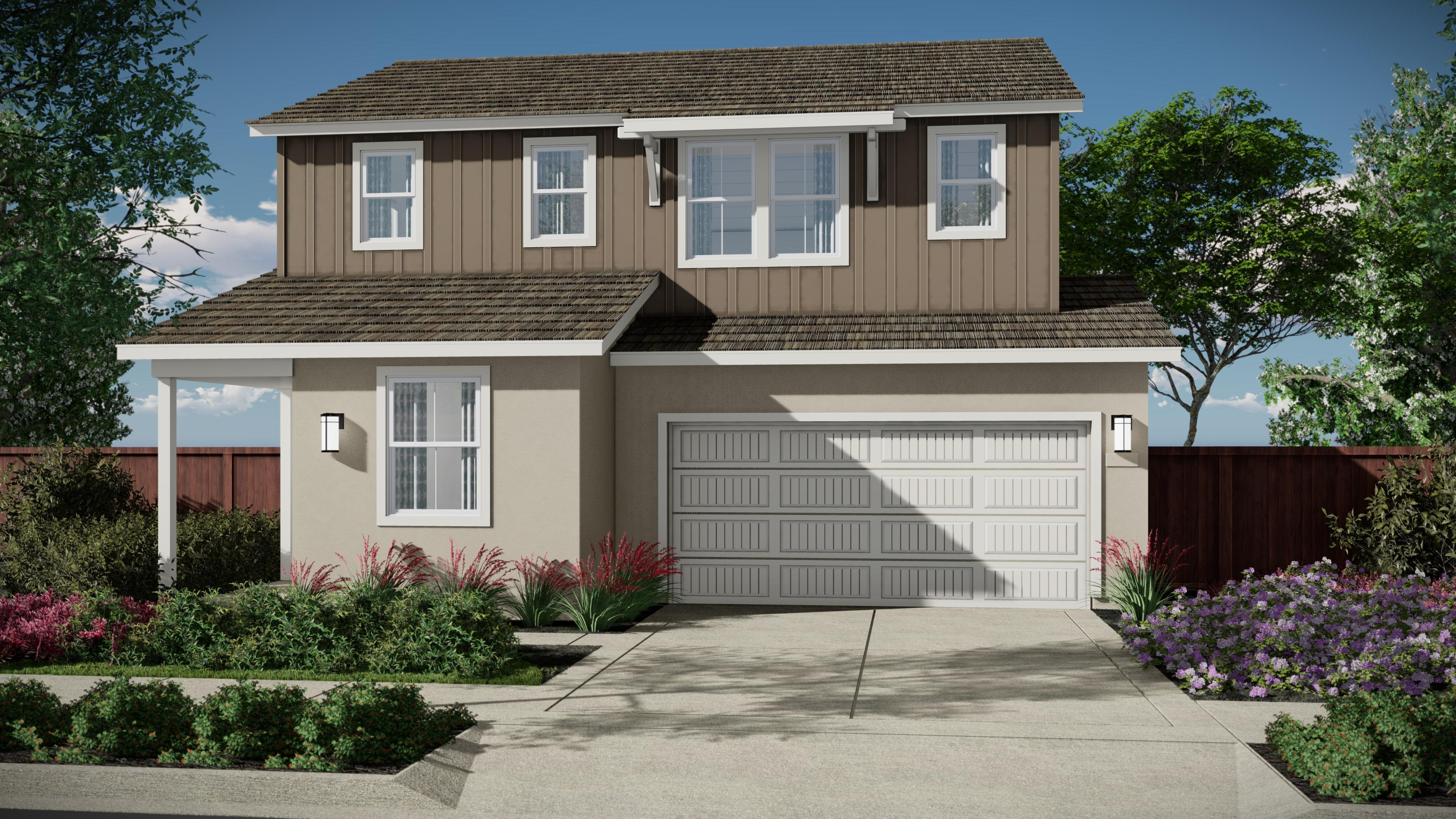 Exterior featured in the Carousel Residence 1 By Kiper Homes in Santa Cruz, CA