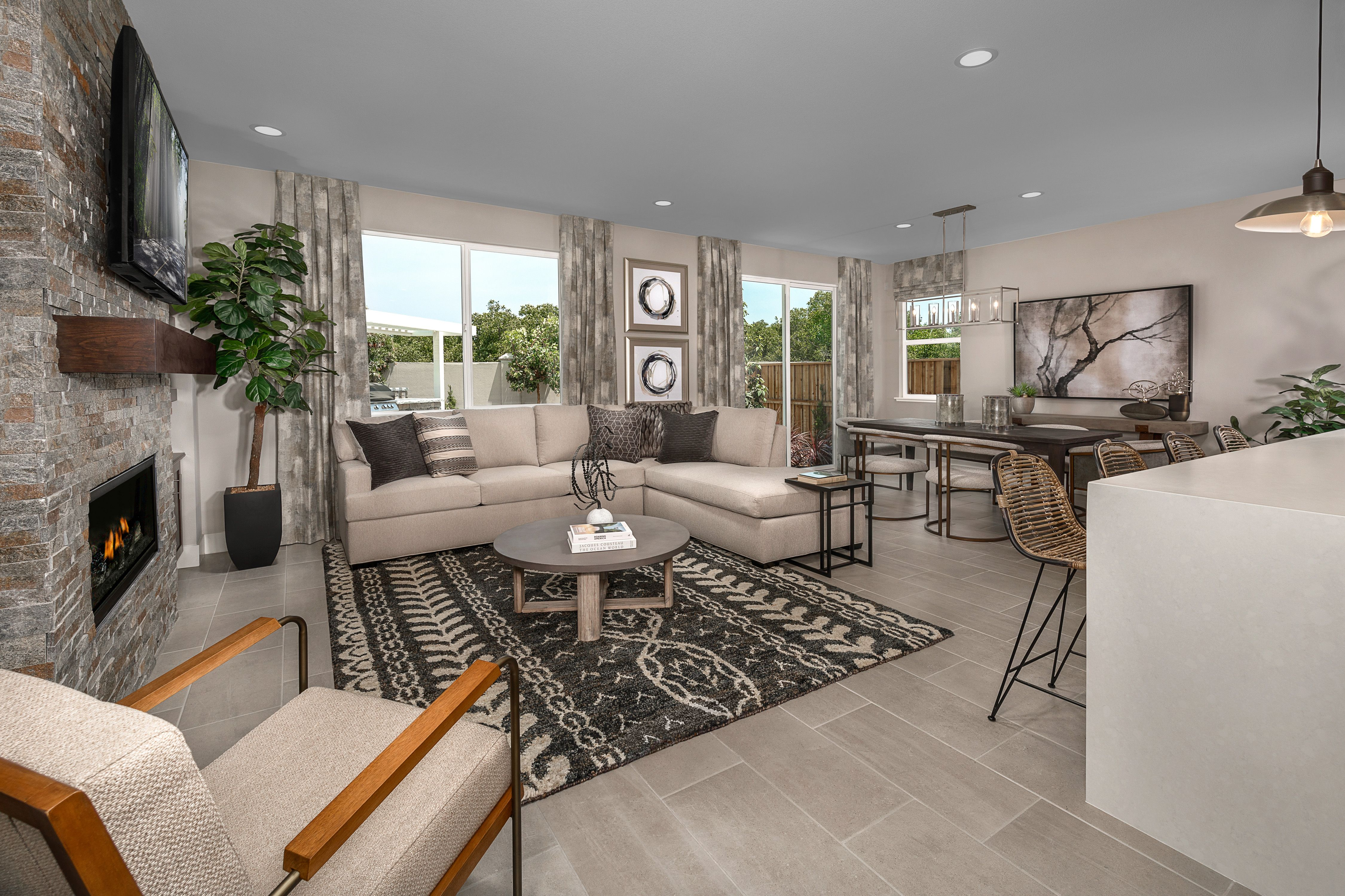Living Area featured in the Mayfair Residence 1 By Kiper Homes in Santa Cruz, CA