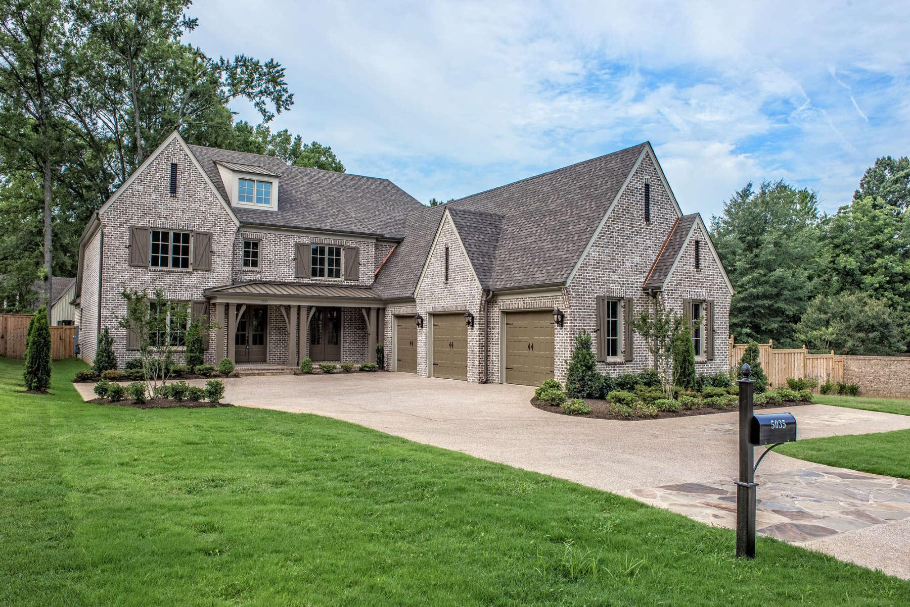 Exterior featured in the Briarcliff By Klazmer Sklar Homes  in Memphis, TN