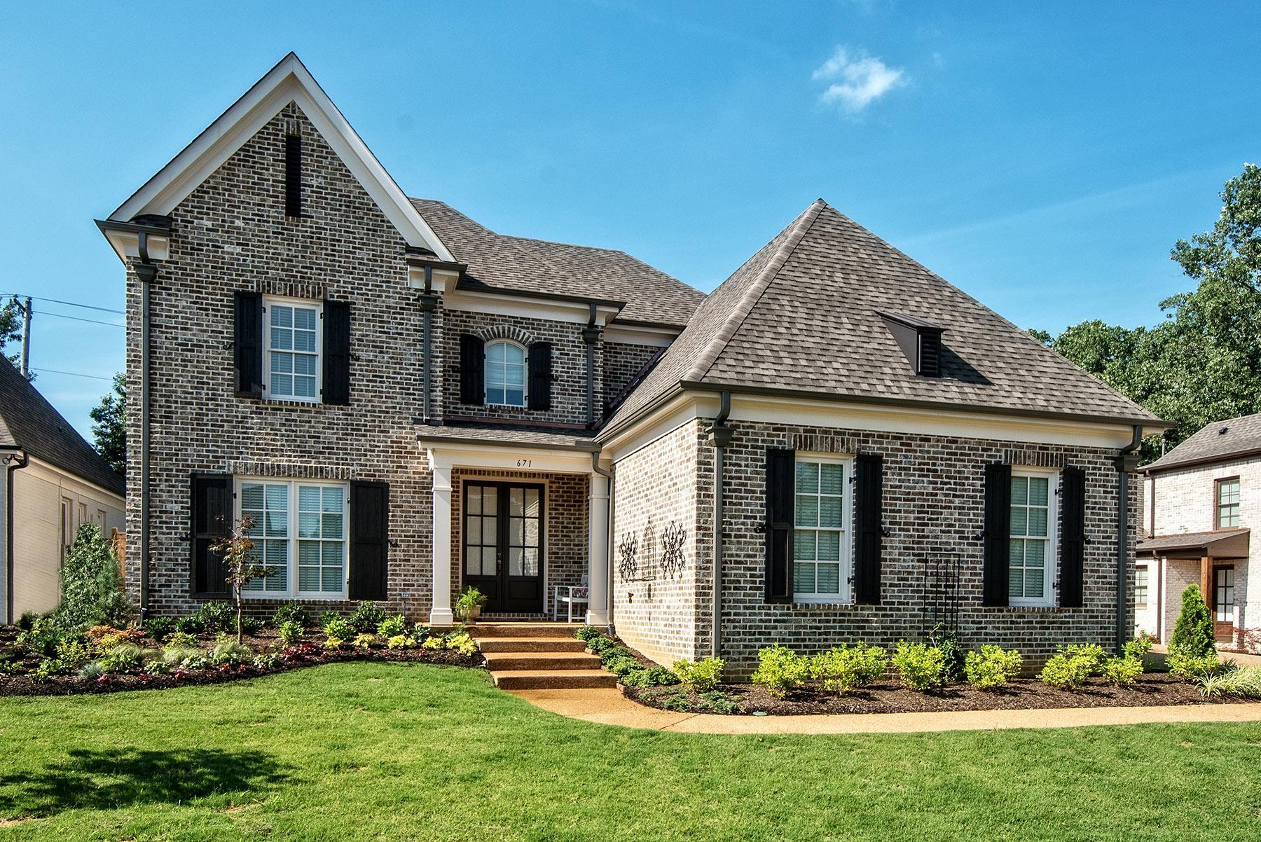 Exterior featured in The Stoneleigh By Klazmer Sklar Homes  in Memphis, TN