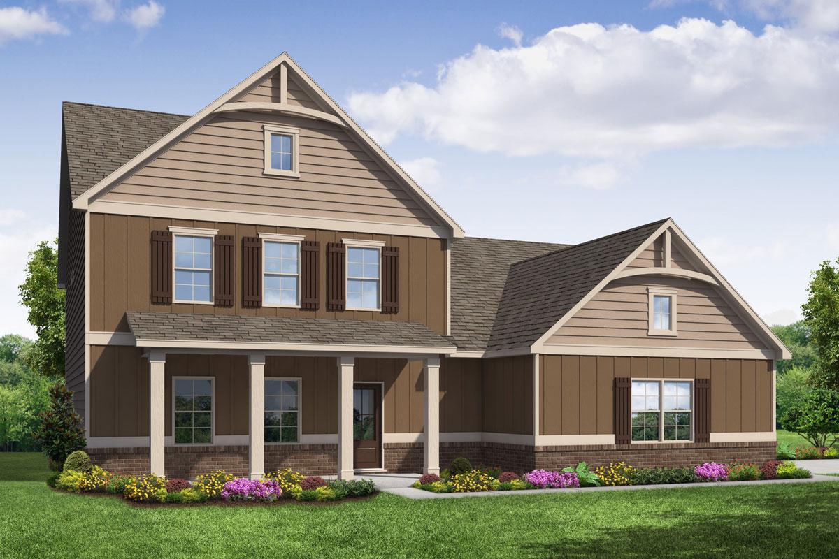 Exterior featured in The Azalea By Knight Homes in Atlanta, GA