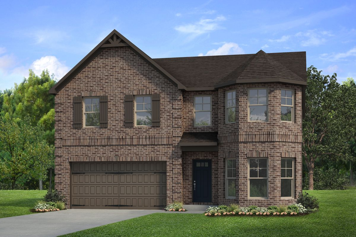 Exterior featured in The Everest III By Knight Homes in Atlanta, GA