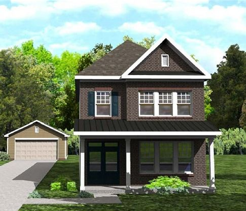 Elevation A:full porch and hip roof