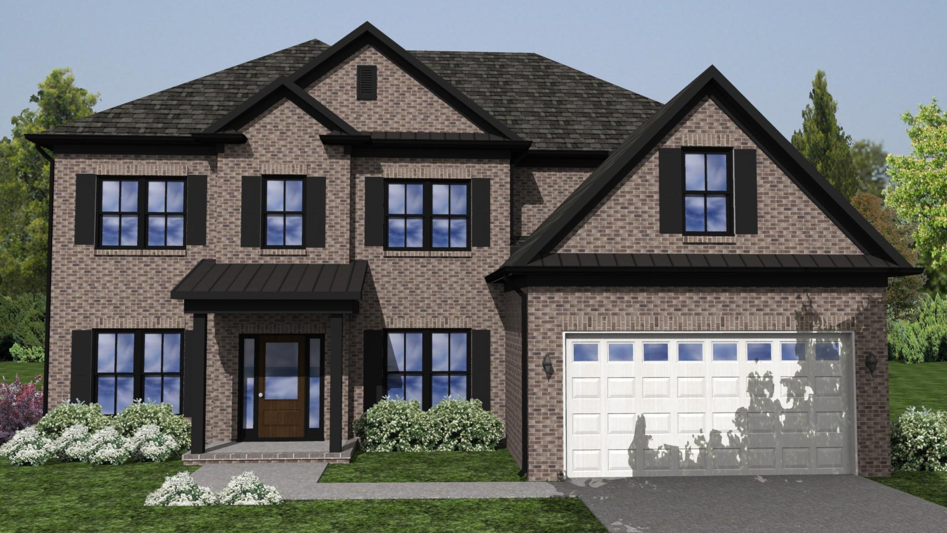 Exterior featured in the Roanoke II By Knotts Builders in Charlotte, SC
