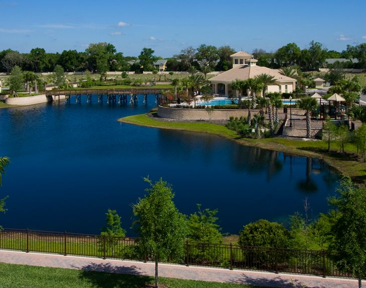 Lakefront Clubhouse:Grande Oaks at Heathrow by Kolter Homes