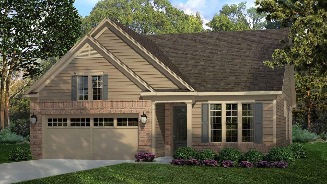 Exterior featured in the Ashford By Kolter Homes in Atlanta, GA