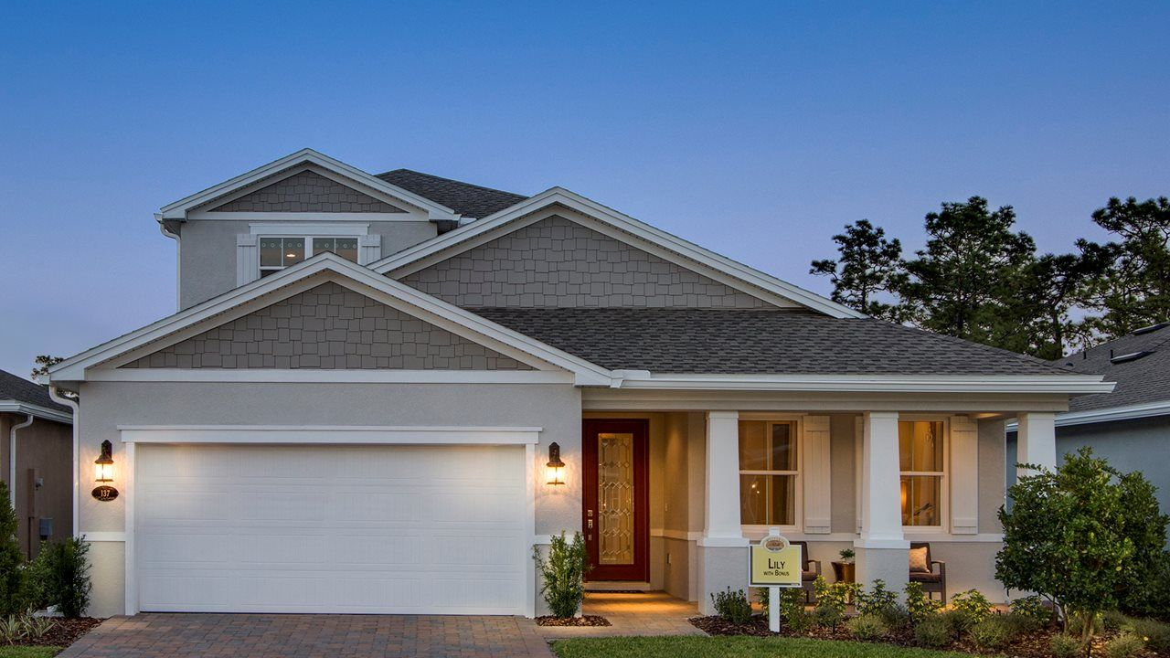 Exterior featured in the Lily with Bonus By Kolter Homes in Daytona Beach, FL