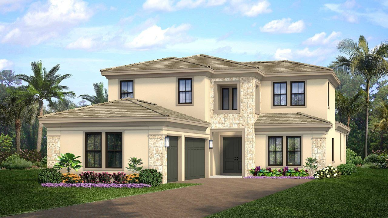Exterior featured in the Raphael By Kolter Homes in Palm Beach County, FL