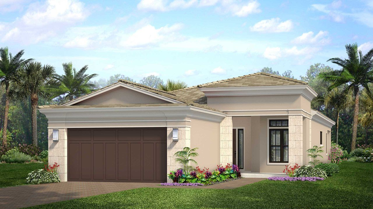 Exterior featured in the Bellini By Kolter Homes in Palm Beach County, FL