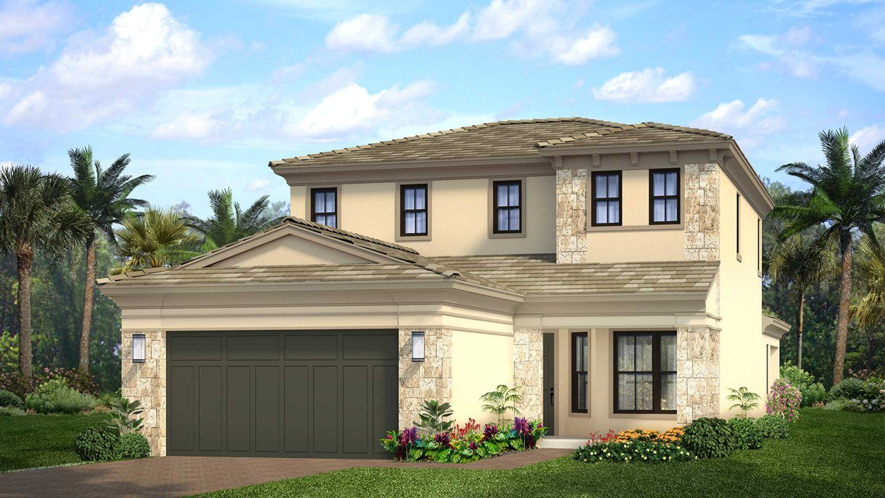Exterior featured in the Francesca By Kolter Homes in Palm Beach County, FL