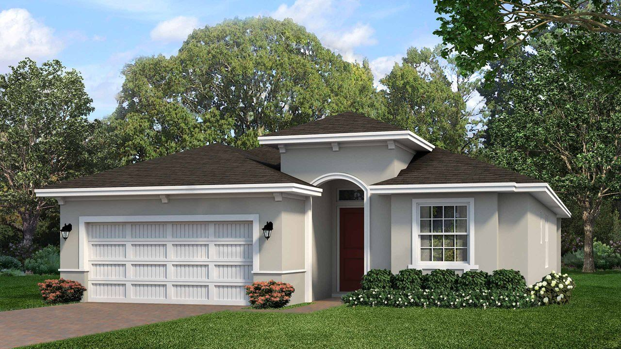 Exterior featured in the Siena By Kolter Homes in Daytona Beach, FL