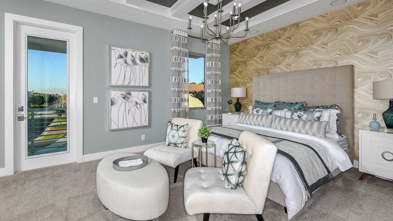 Bedroom featured in the Manchester By Kolter Homes in Palm Beach County, FL