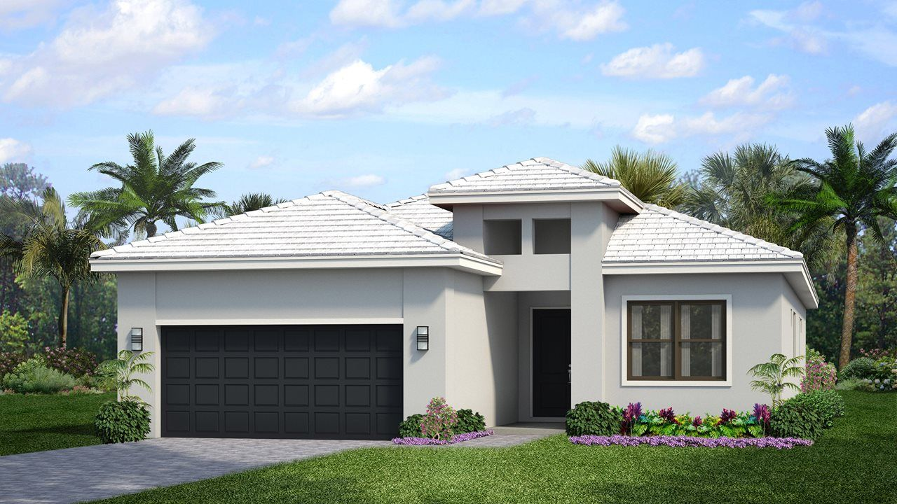 Exterior featured in the Fiesta By Kolter Homes in Palm Beach County, FL